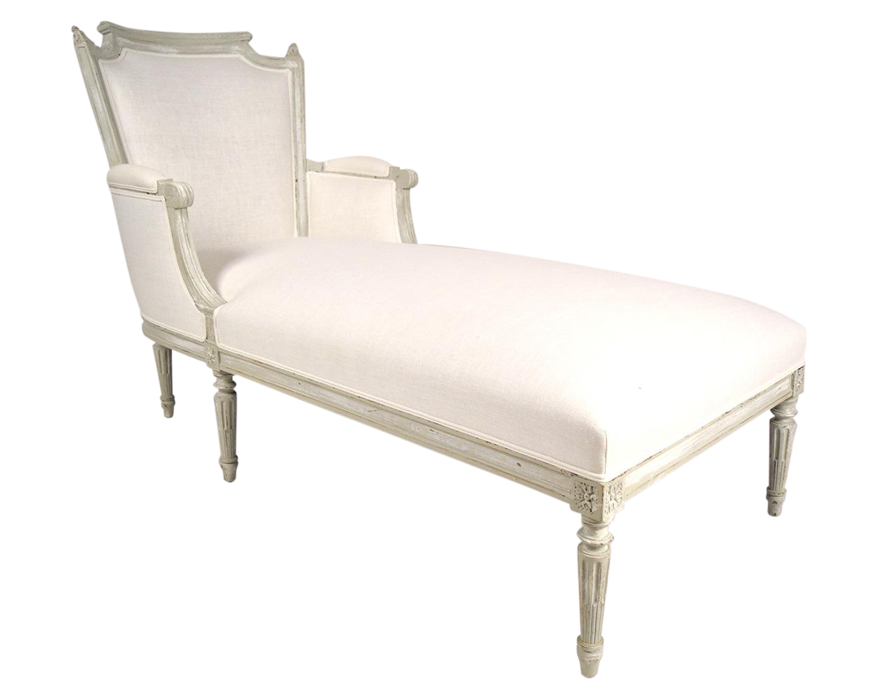 french carved antique louis xvi chaise lounge chairish. Black Bedroom Furniture Sets. Home Design Ideas