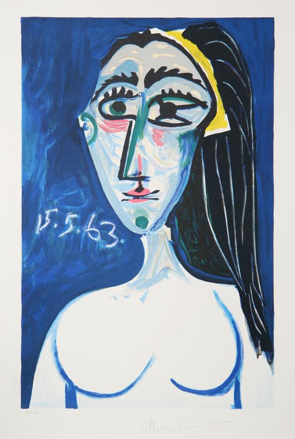 Pablo Picasso Buste De Femme Nue Face Lithograph Chairish