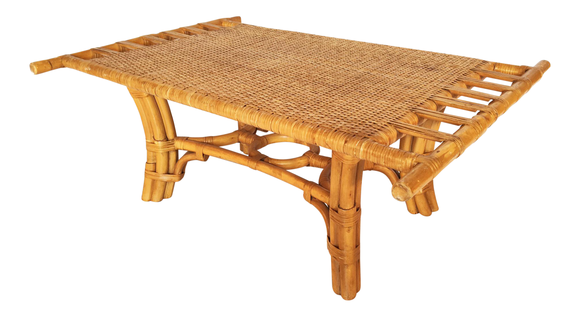 vintage pagoda style bamboo with cane coffee table chairish