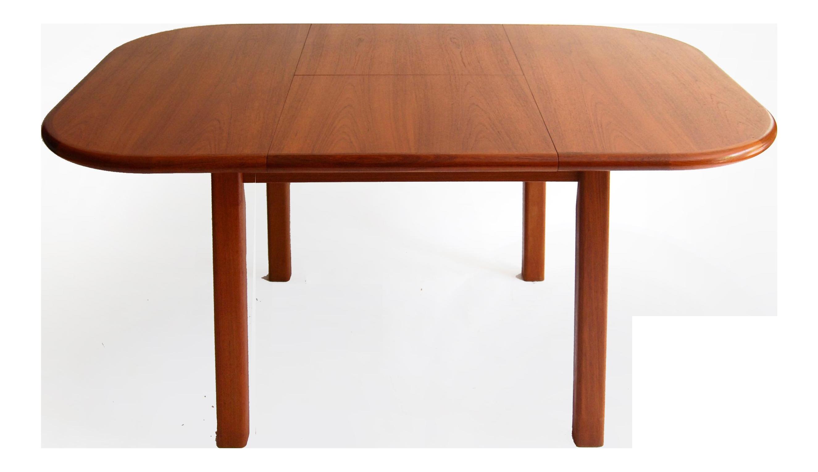 Vintage Mid Century Modern Teak Extending Dining Table by D Scan