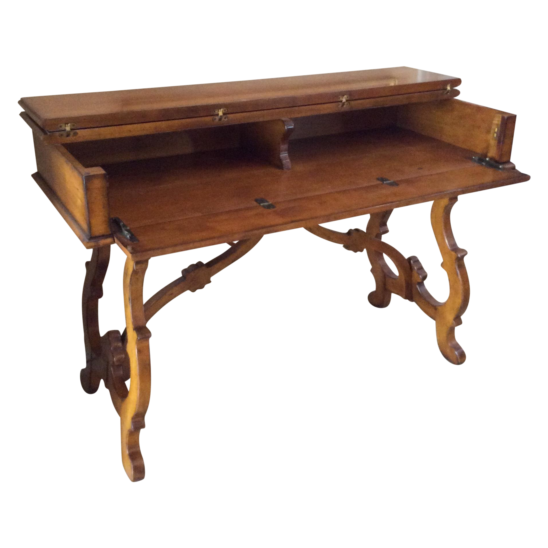 Traditional wooden stand up desk chairish for Stand traditionnel