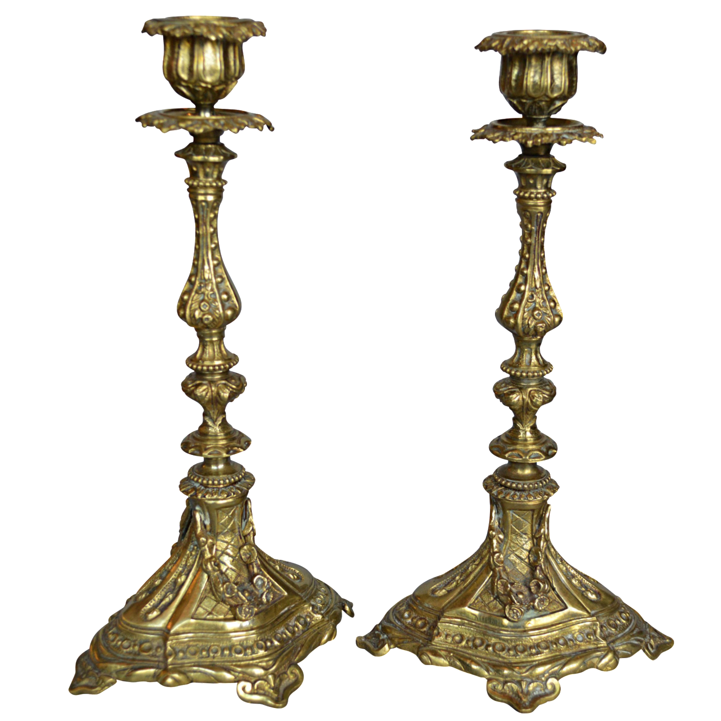 French Gilt Bronze Candlestick Holders A Pair Chairish : french gilt bronze candlestick holders a pair 9235 from www.chairish.com size 1445 x 1445 png 1108kB