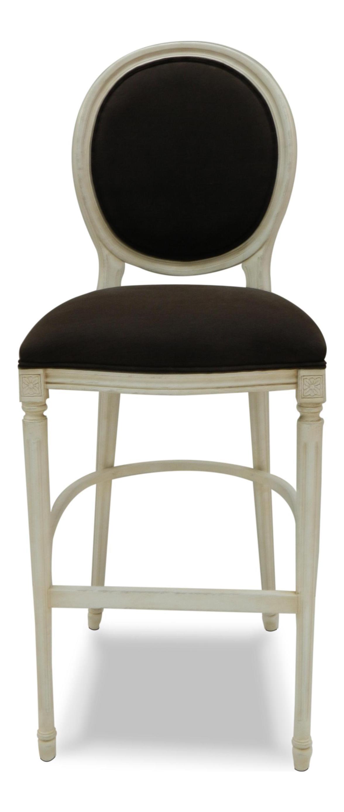Sarreid Ltd Louis Xvi Style Round Back Bar Stool Chairish