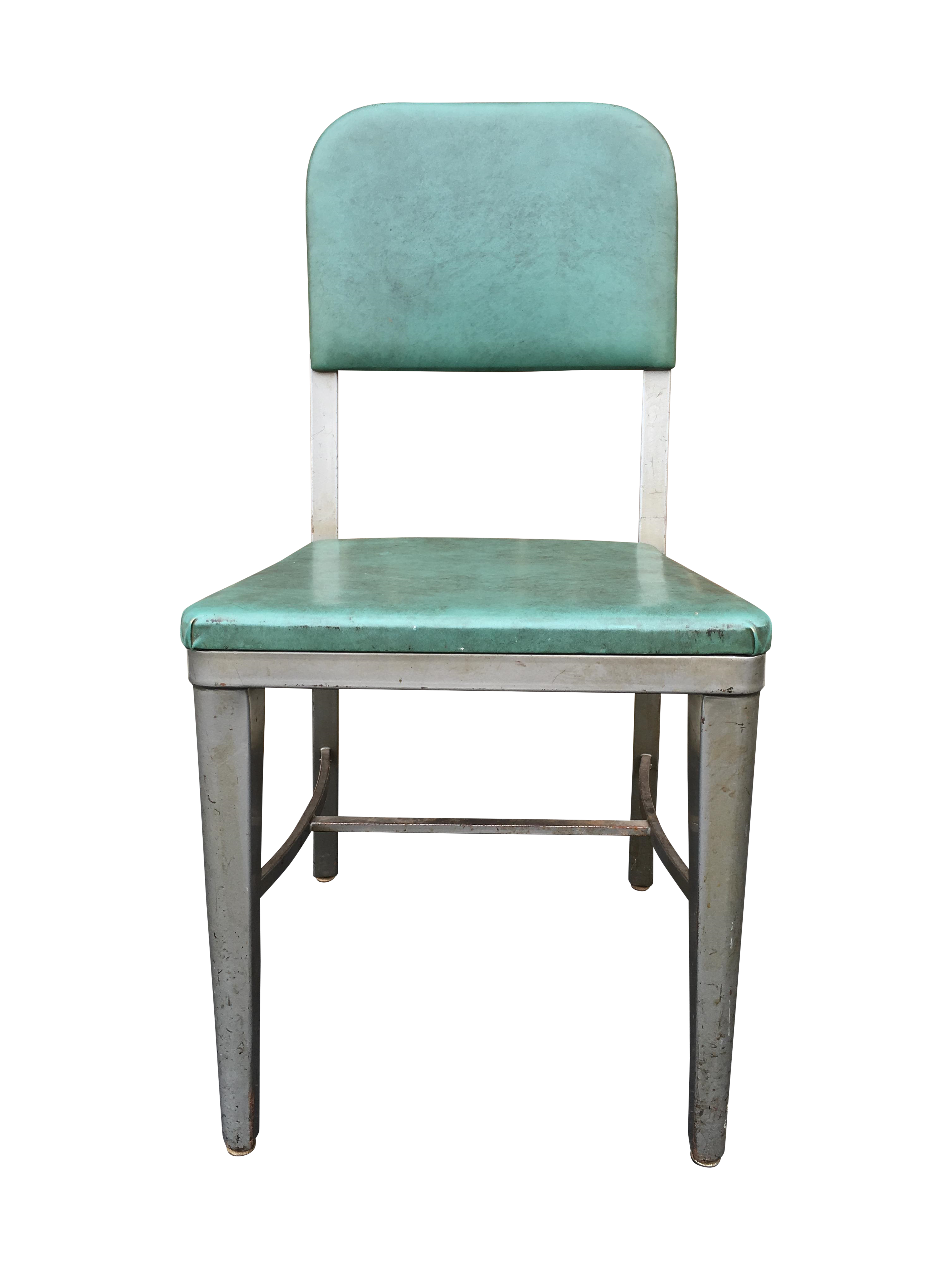 Vintage Industrial Metal Lux Desk Chair