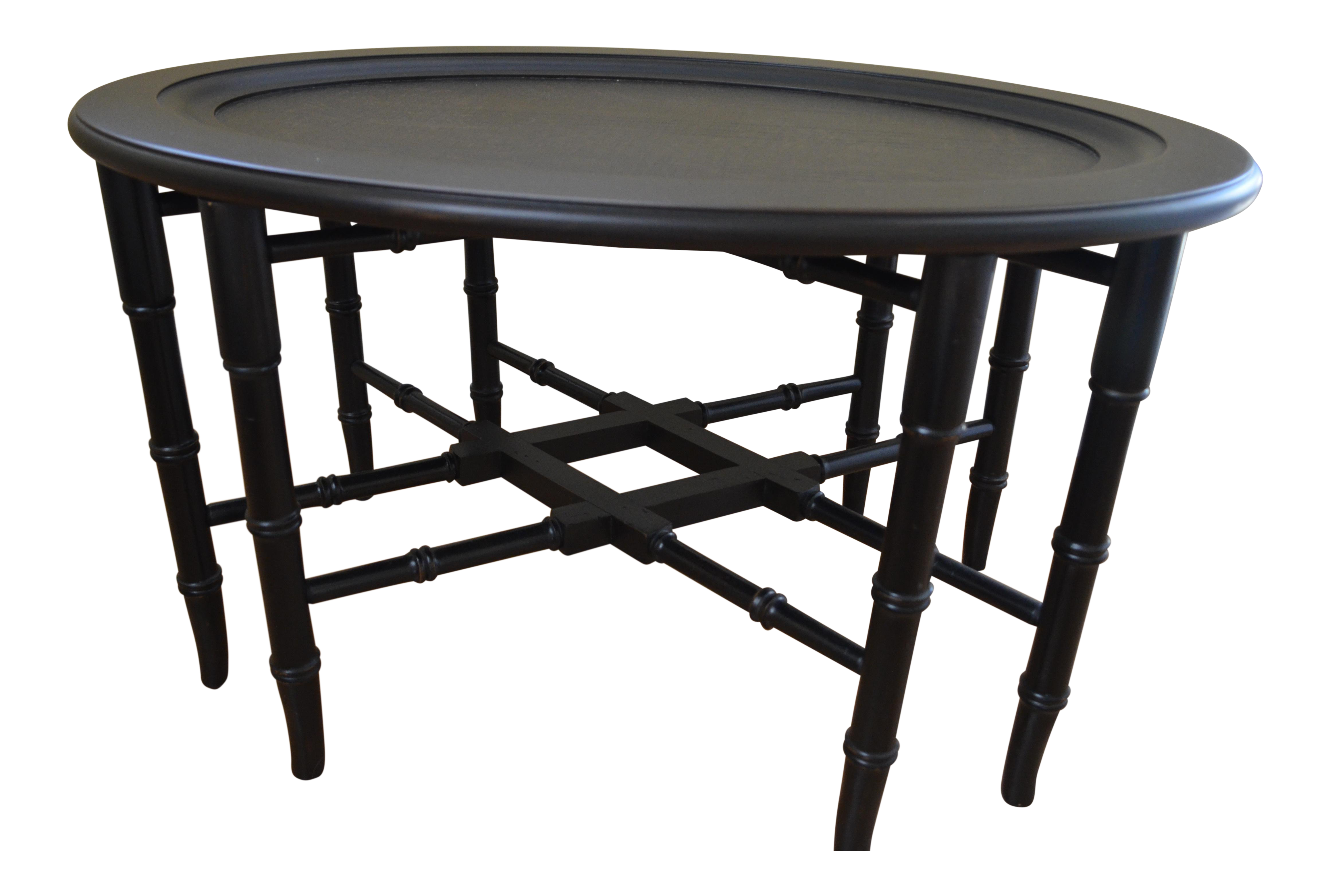 Ethan allen chinoiserie tray table chairish geotapseo Gallery