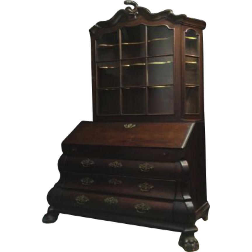 vintage 1800s oak dutch secretaire chairish. Black Bedroom Furniture Sets. Home Design Ideas