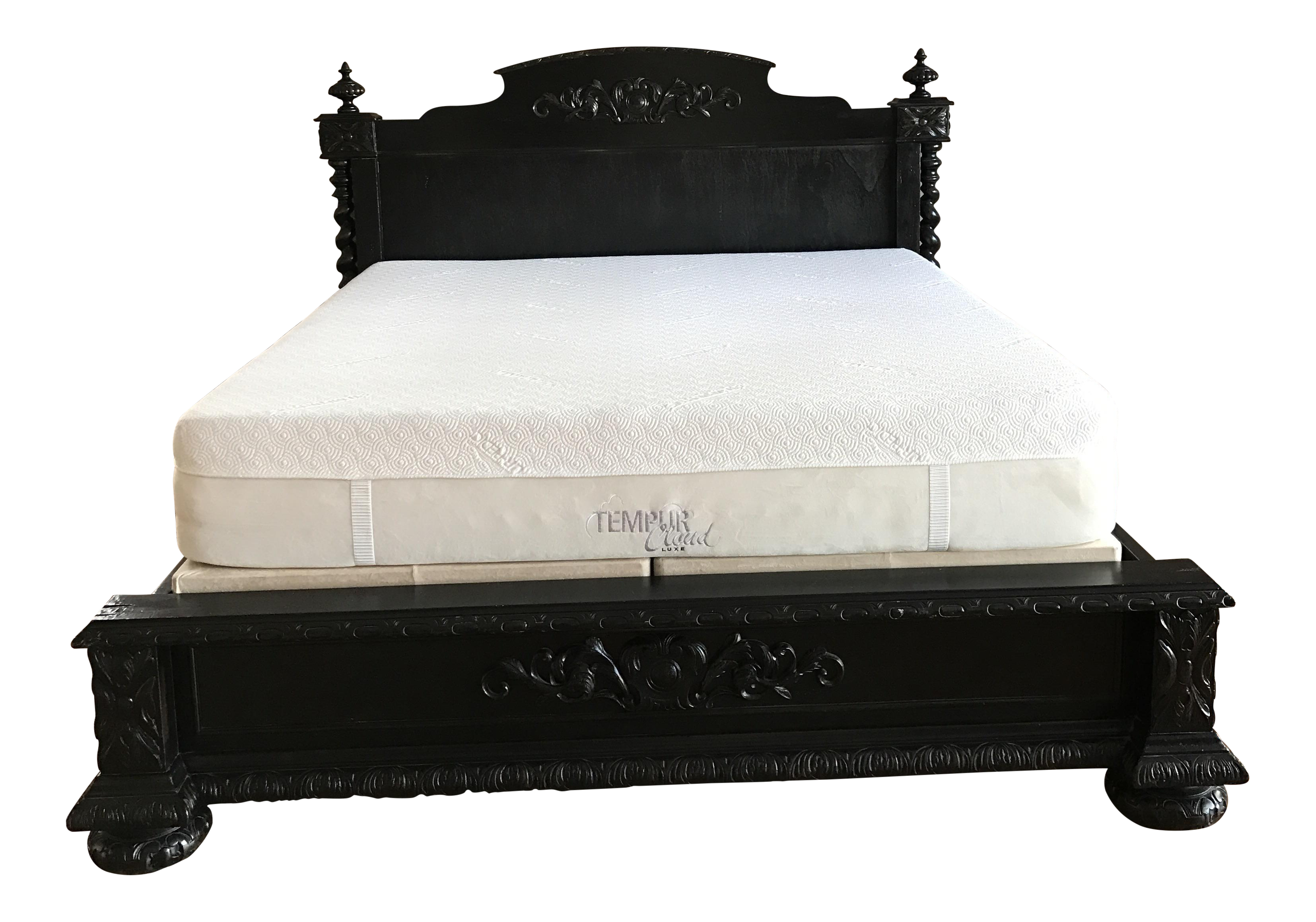 Restoration Hardware French Empire Panel Bed King Antiqued