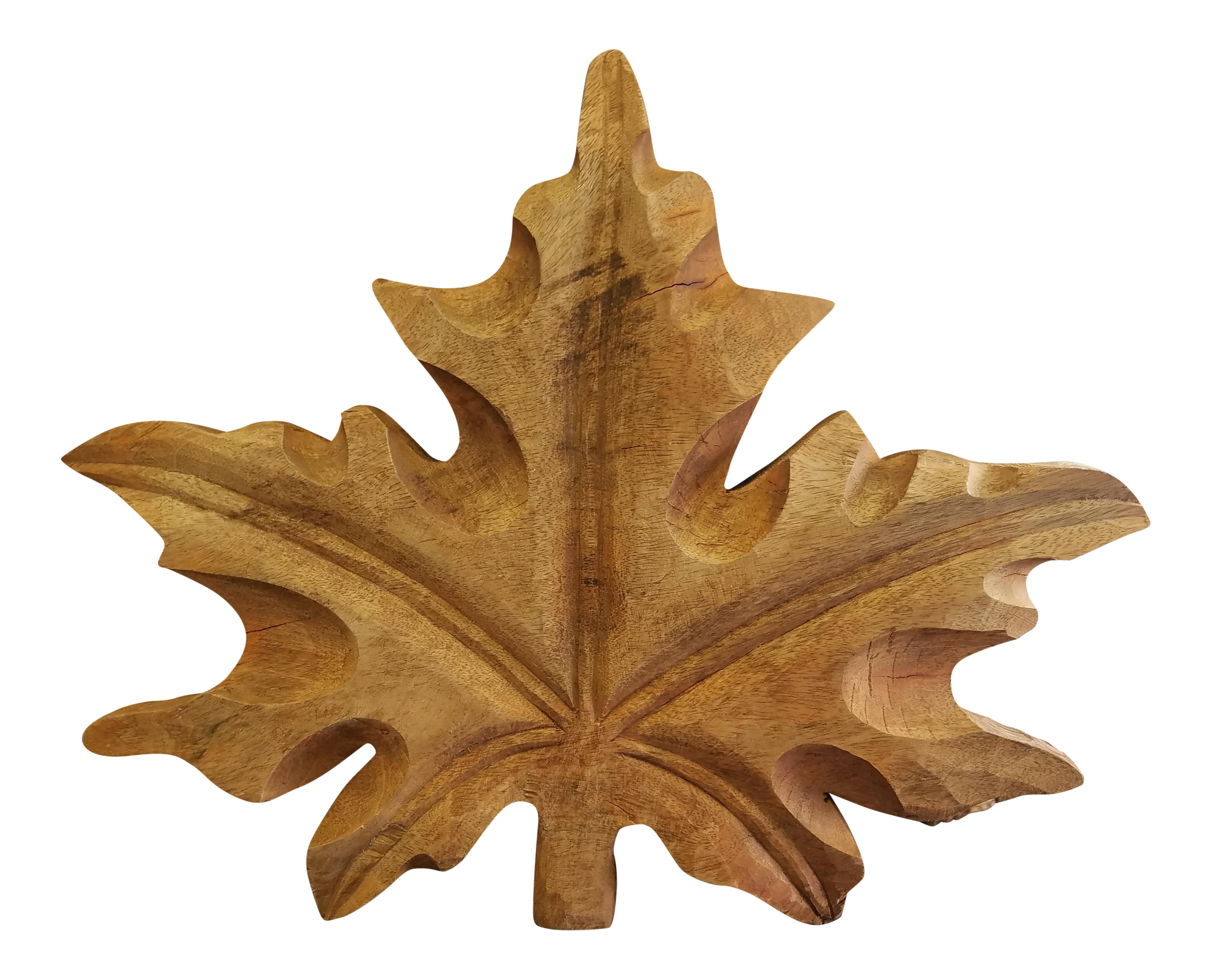 Hand carved maple leaf chairish