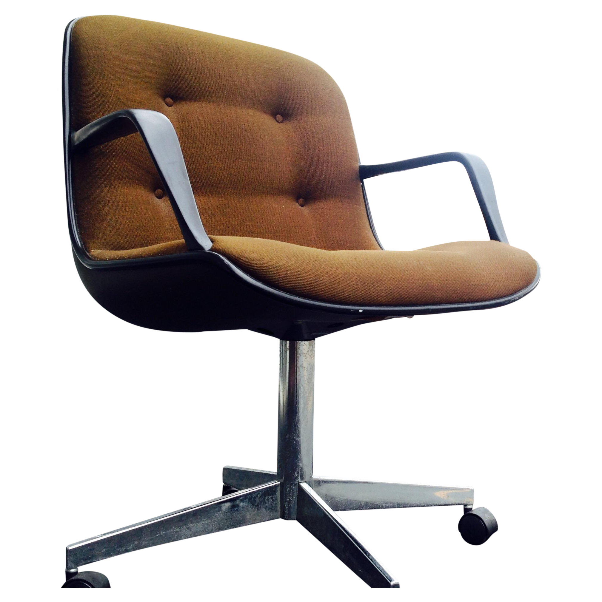 image of steelcase mid century brown office chair chair mid century office