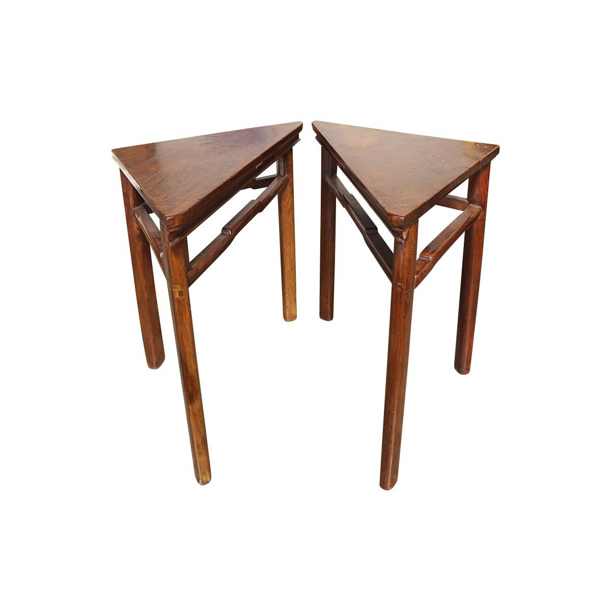Antique Triangle Accent Tables 2