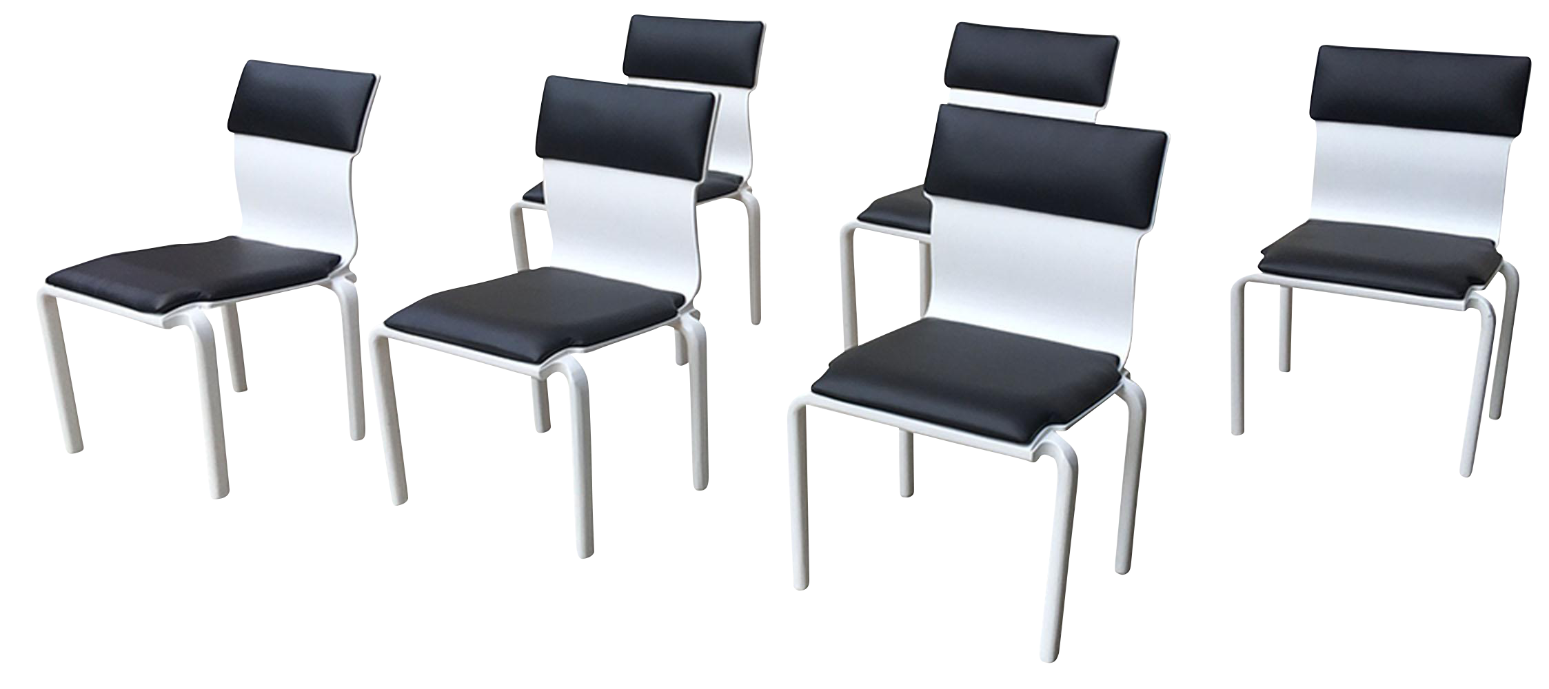 Black And White Mid Century Modern Dining Chairs Set Of