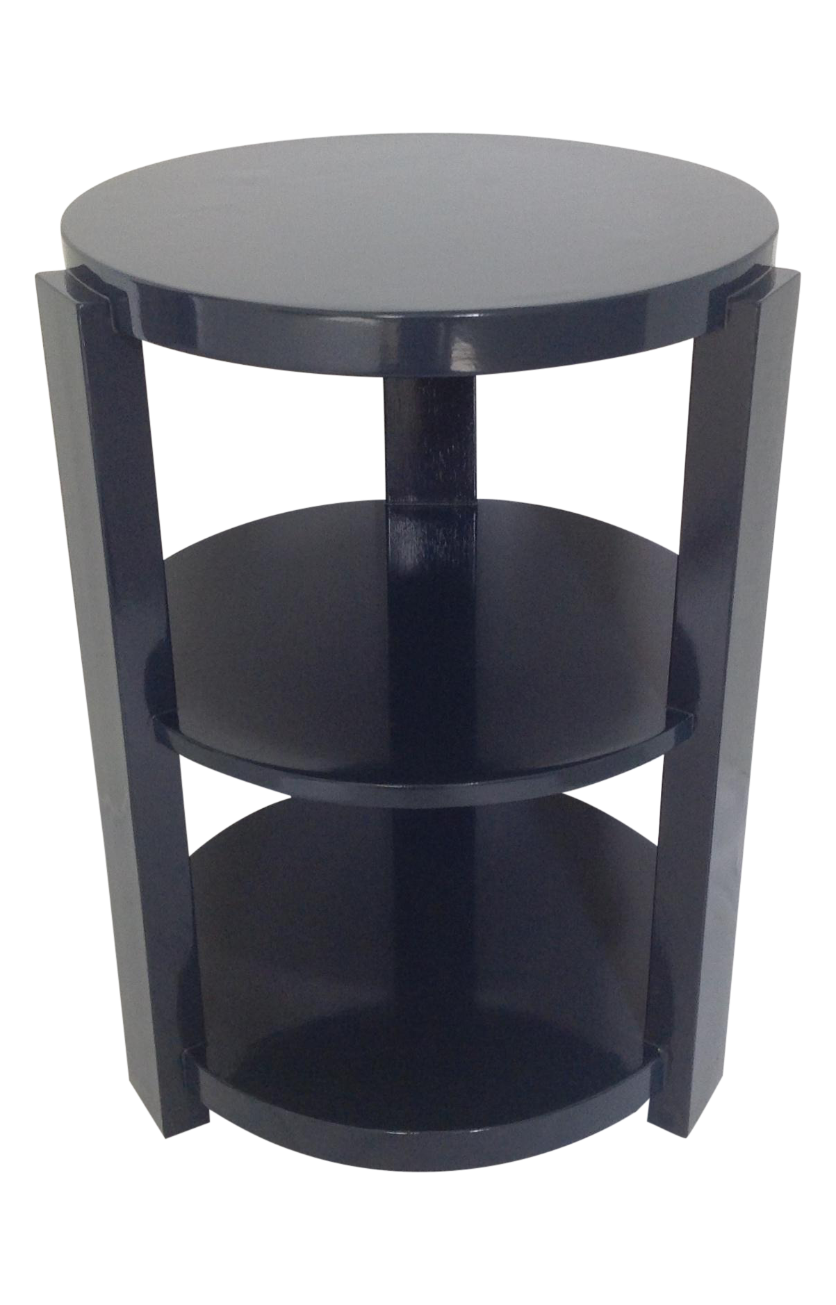Art Deco Style 3 Tier Round End Table