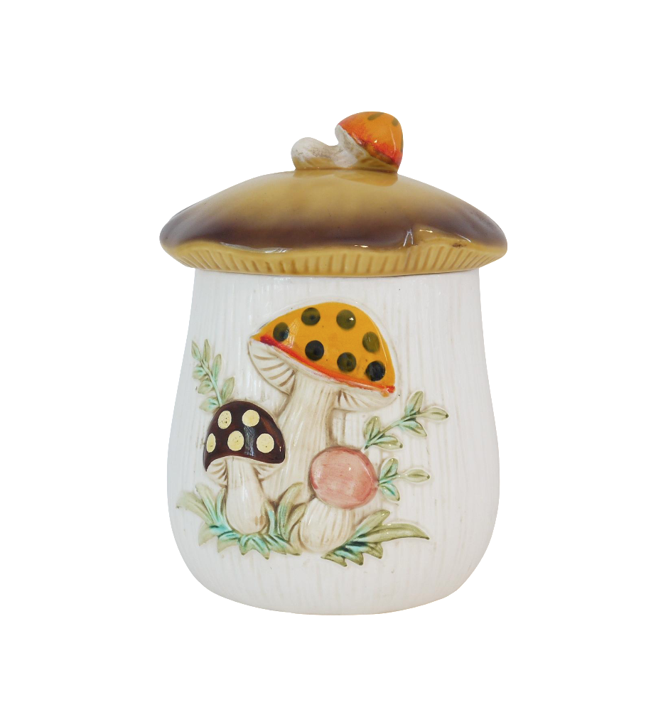 Vintage Mushroom Cookie Jar Chairish