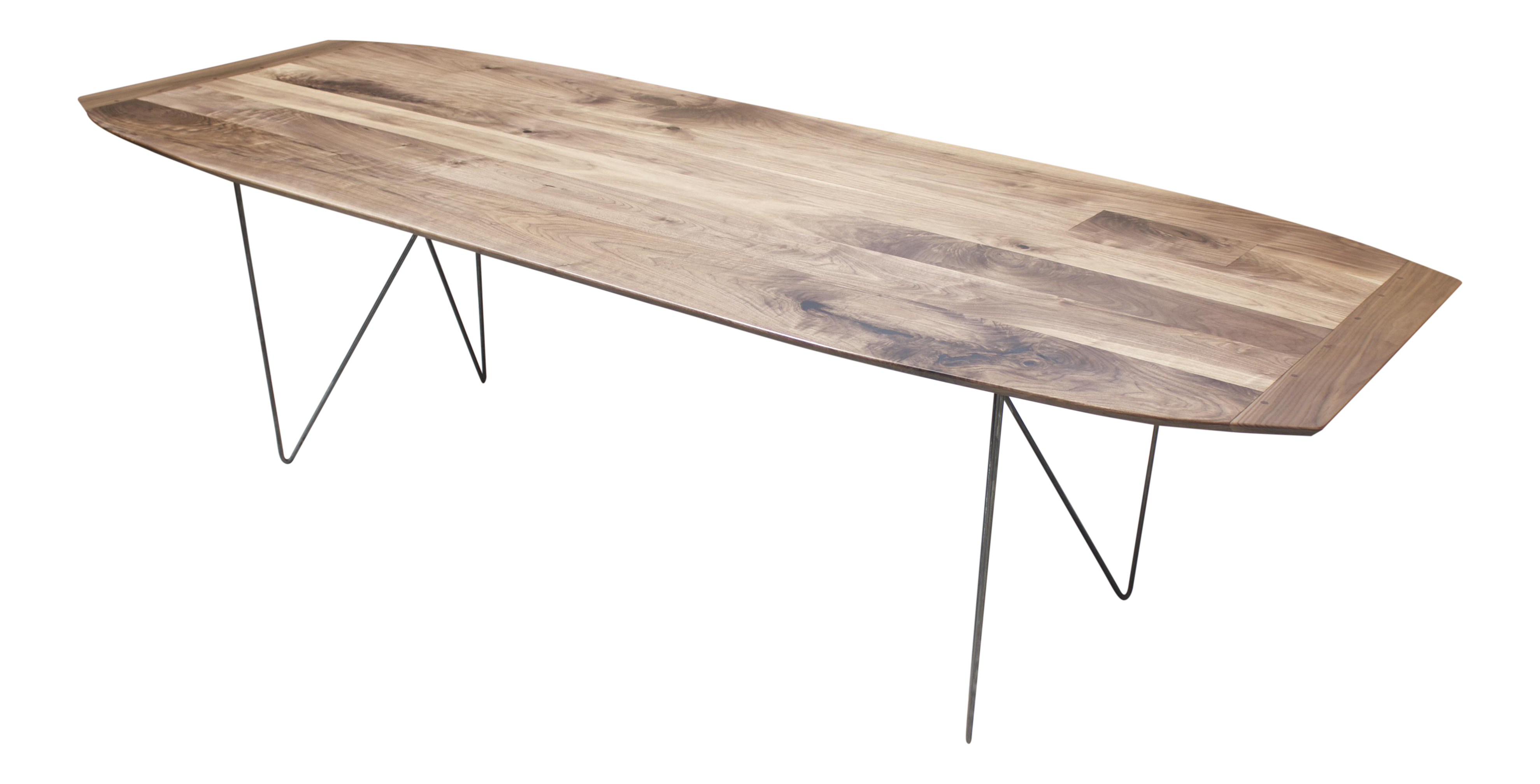 Modern Walnut Dining Table With Geometric Steel Base  : modern walnut dining table with geometric steel base 0064 from www.chairish.com size 3958 x 2017 png 4355kB