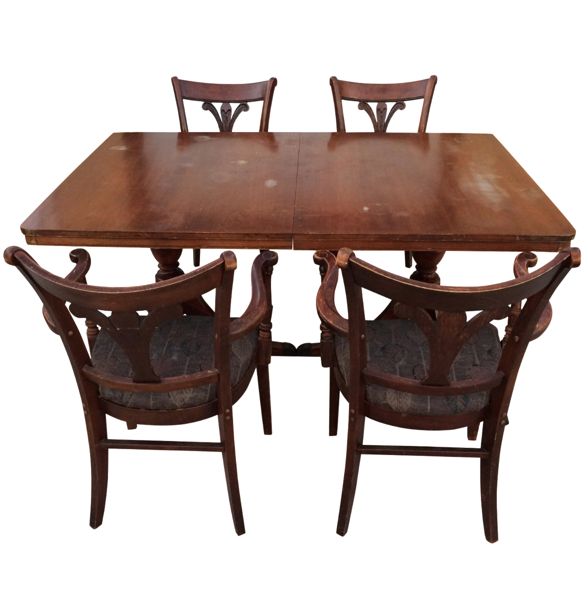Tell City Mahogany Chairs Amp Dining Table S 5 Chairish