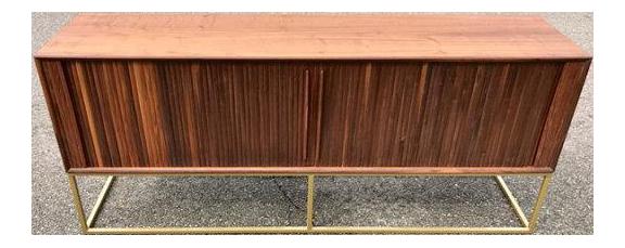 Mid Century Modern Style Tambour Door Credenza Chairish