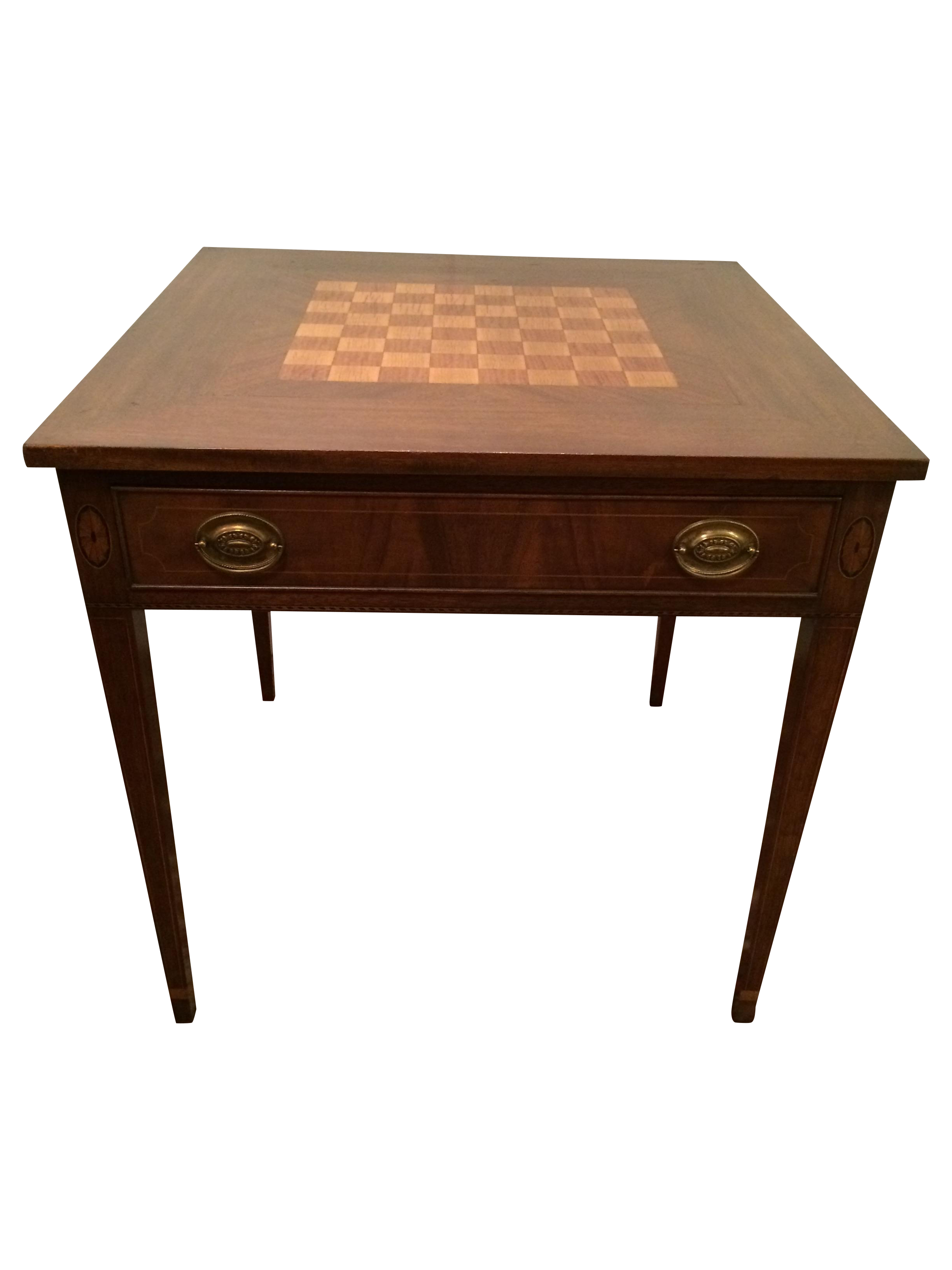 Potthast Inlaid Chess Checkers Game Table