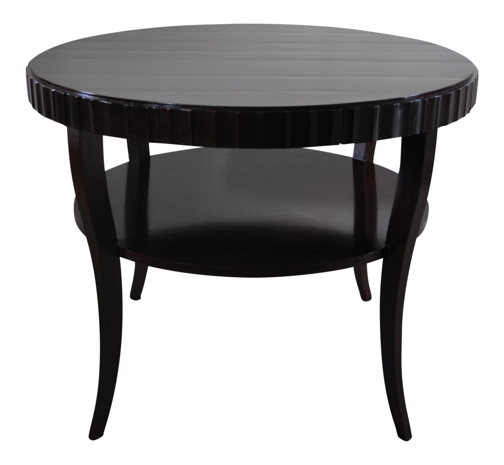 Barbara barry for baker round foyer table chairish for Table de mixage zmx 52