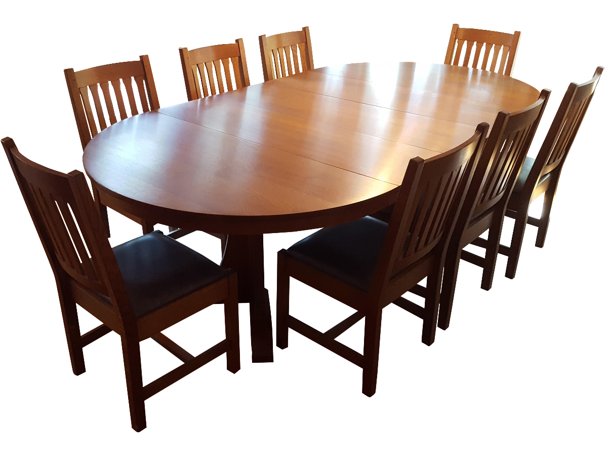 Mission Style Stickley Oak Dining Set