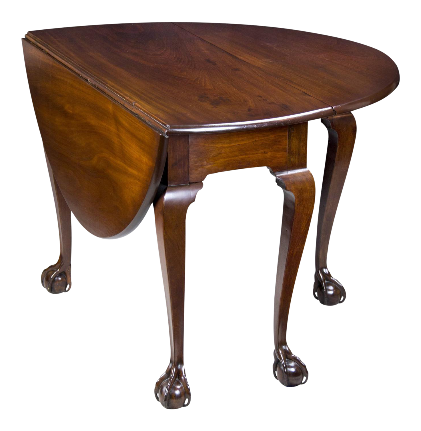 Fine chippendale mahogany drop leaf table with open talon for When did table 52 open