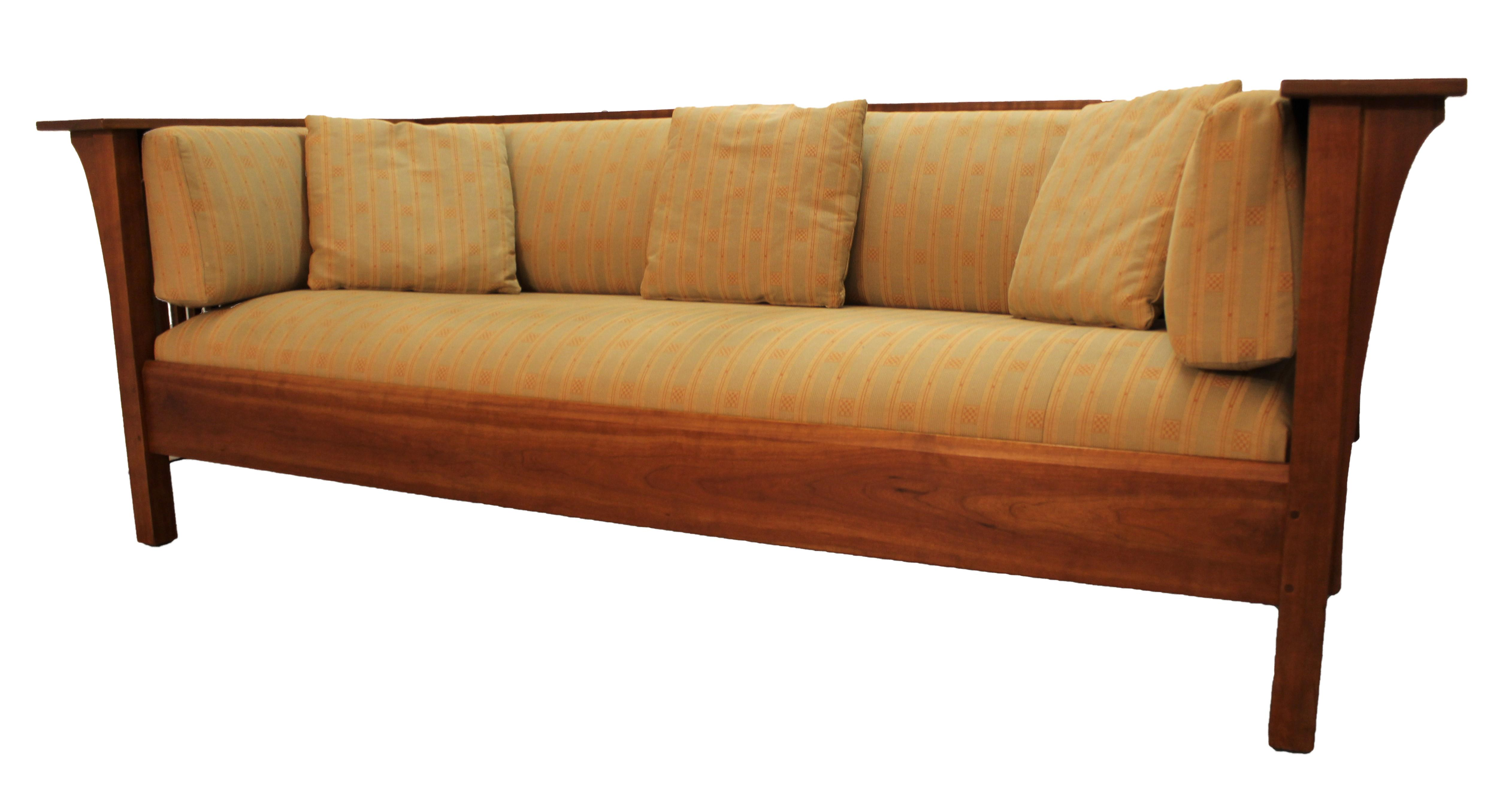 Arts and crafts style sofa - Image Of Mission Arts And Crafts Style Stickley Cherry Spindle Sofa