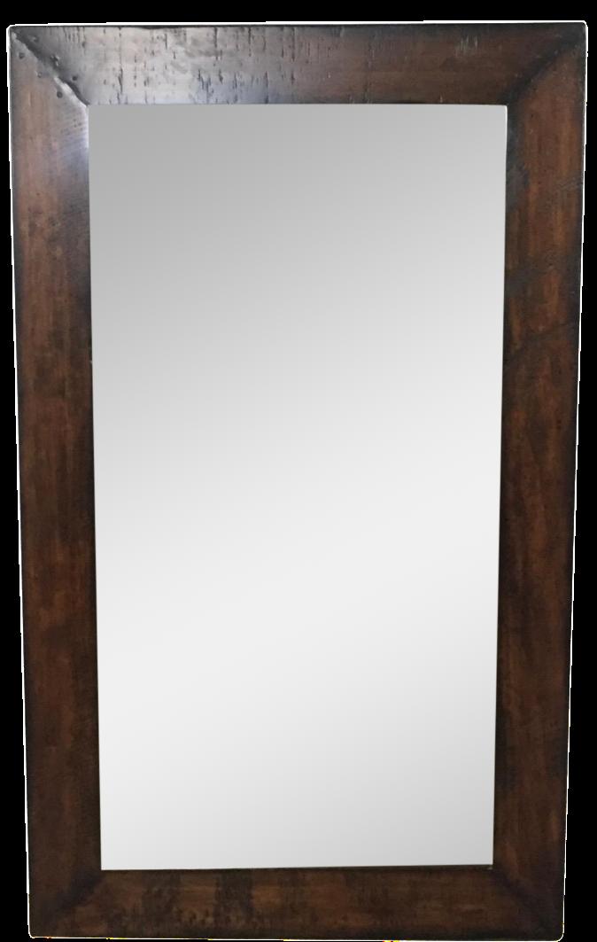 Barn Wood Mirror Rustic Home Decor: Pottery Barn Wood Frame Mirror