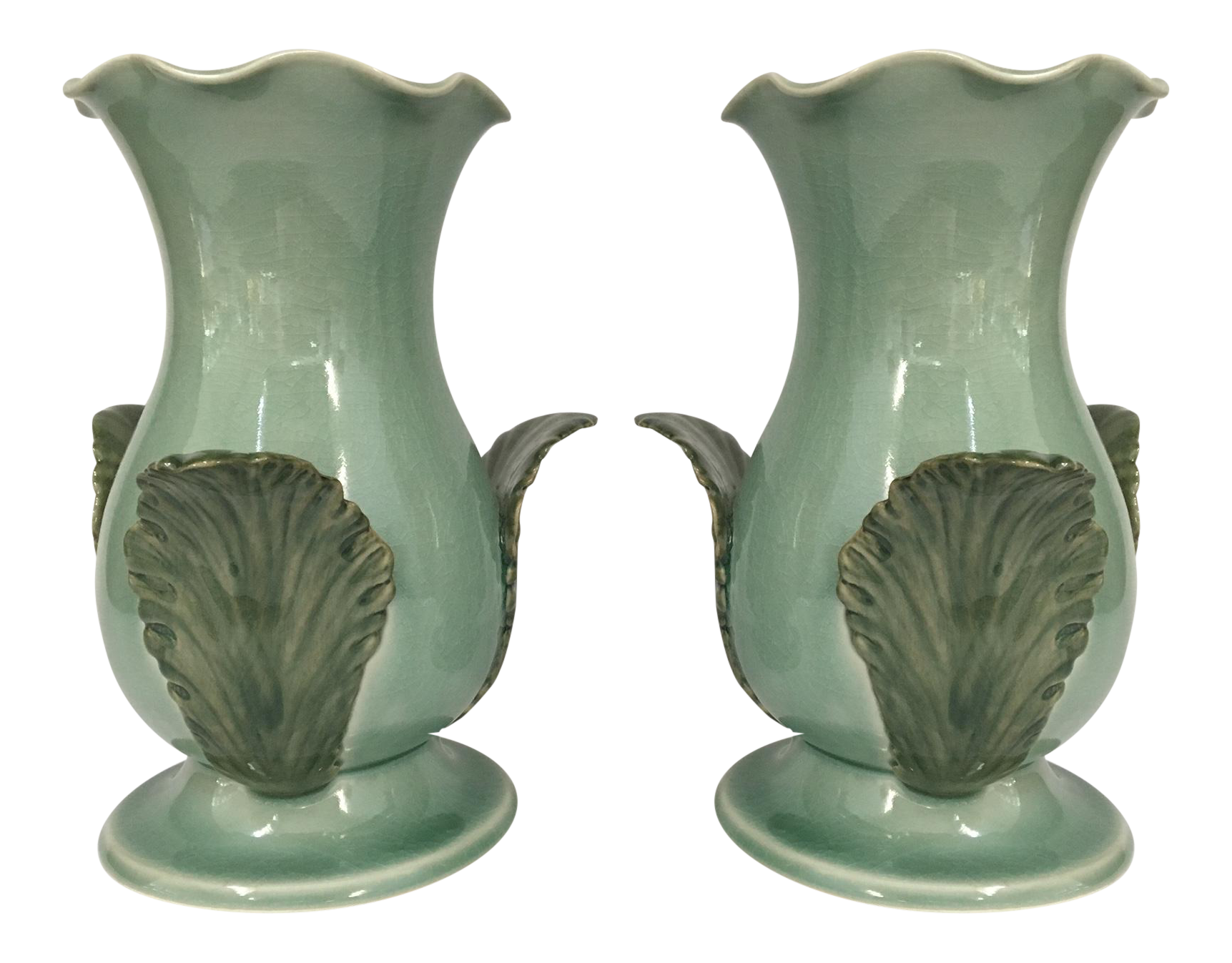 Maitland Smith Ceramic Vases Pair Chairish