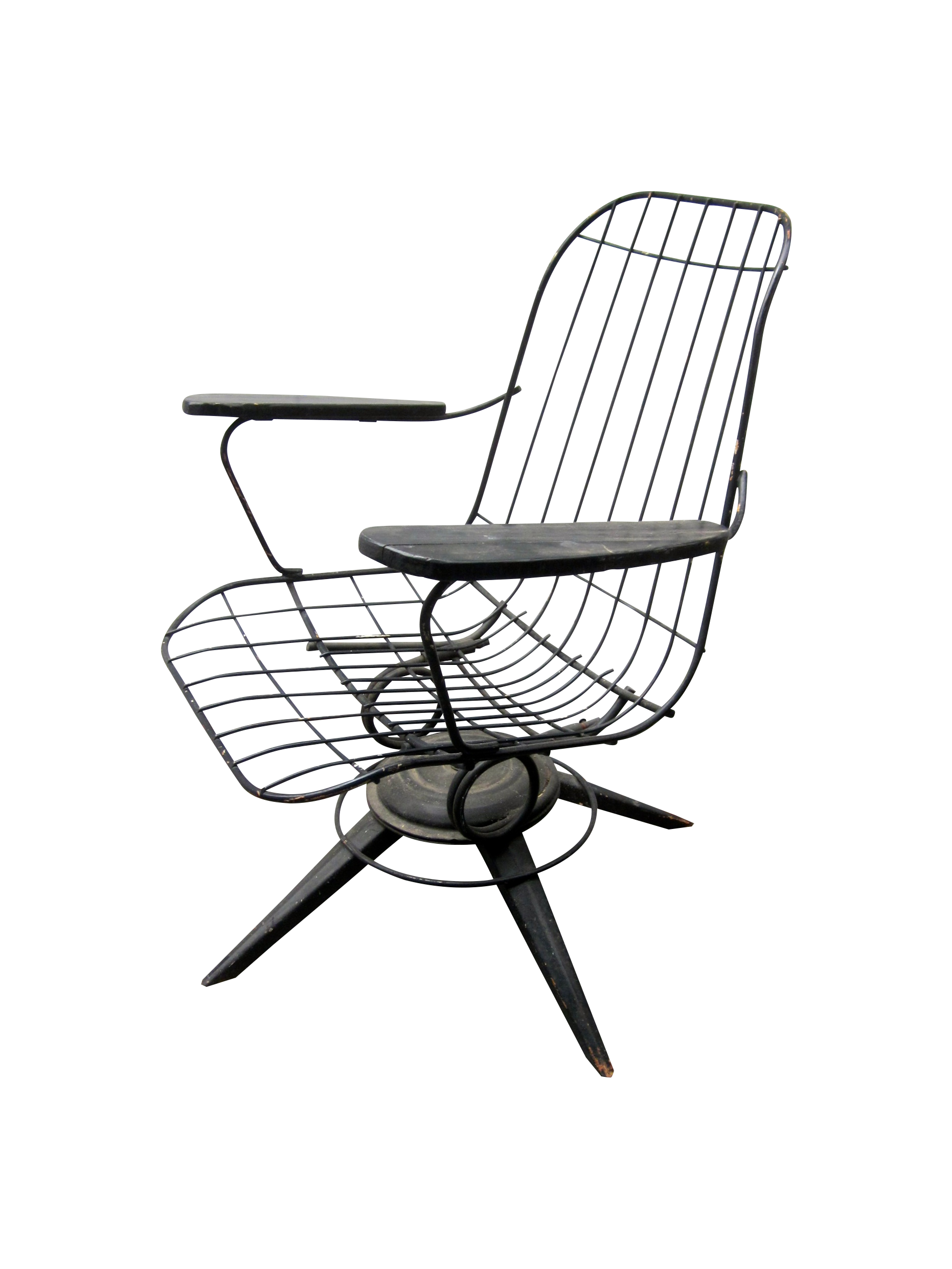 Mcm homecrest eames era bertoia style wire chair chairish for Chaise wire eames