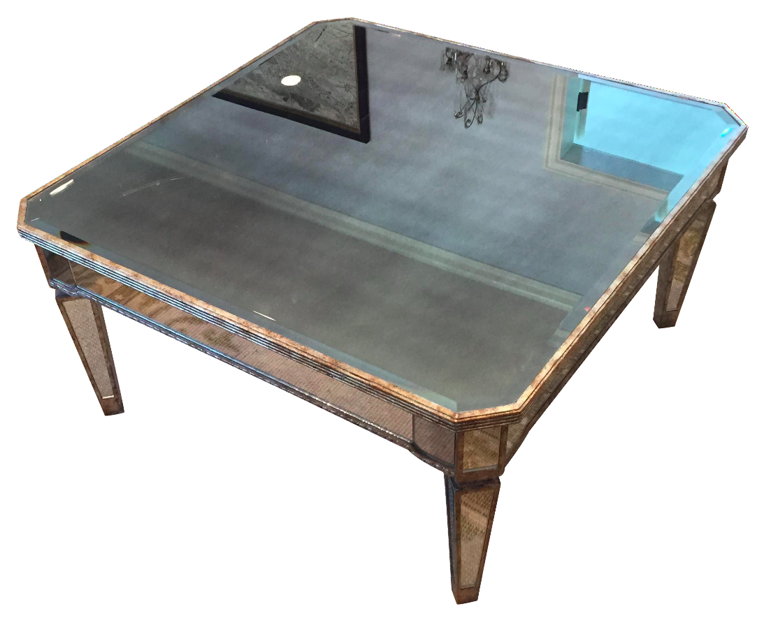 Gilded Square Mirrored Coffee Table Chairish