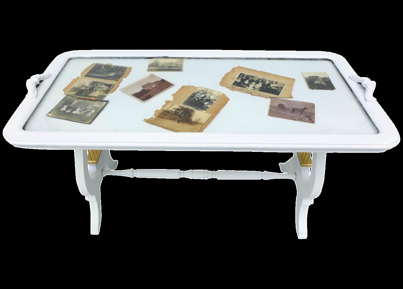 White Glass Top Coffee Table Chairish