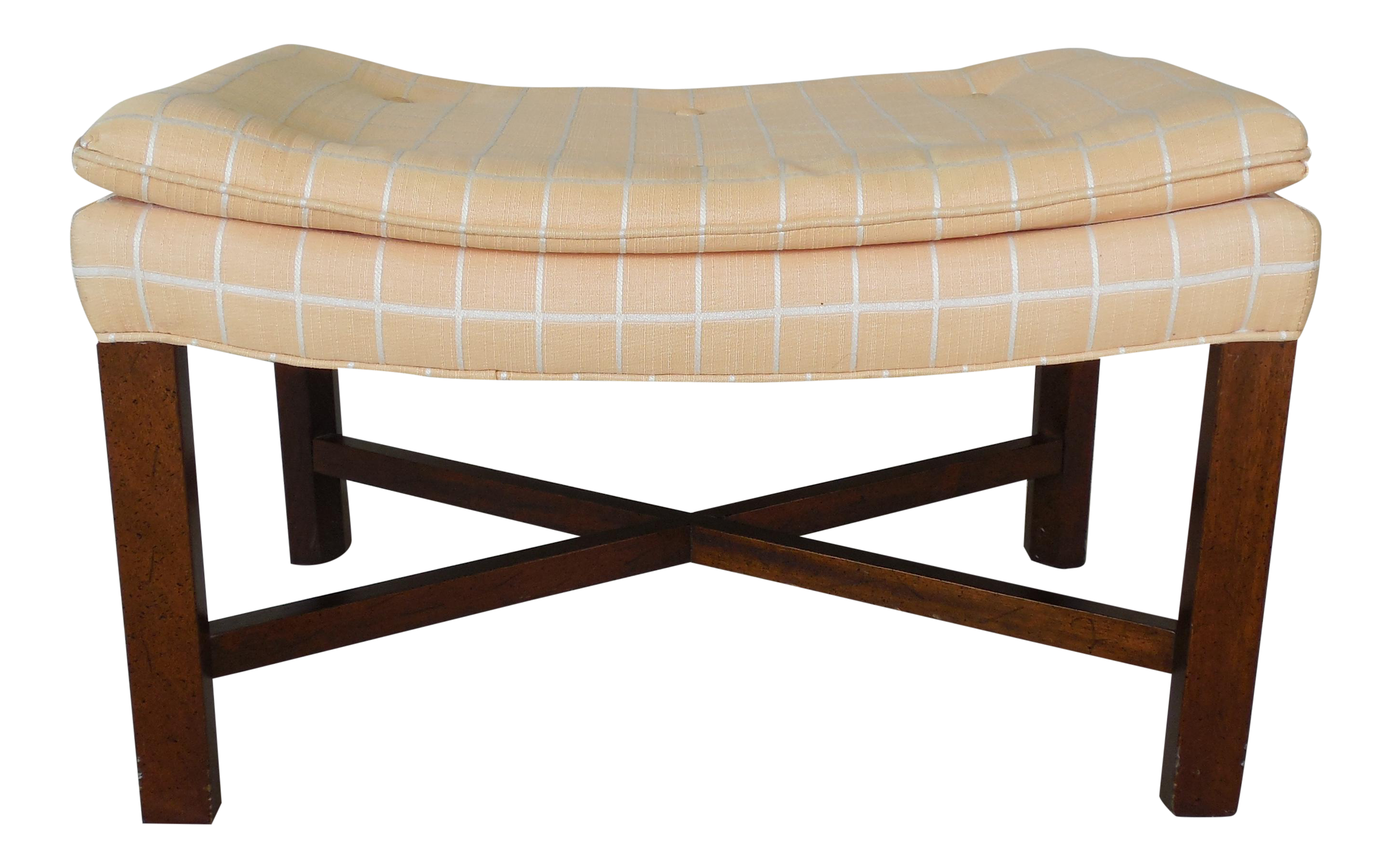 Drexel Heritage Chippendale Style Stretcher X Base