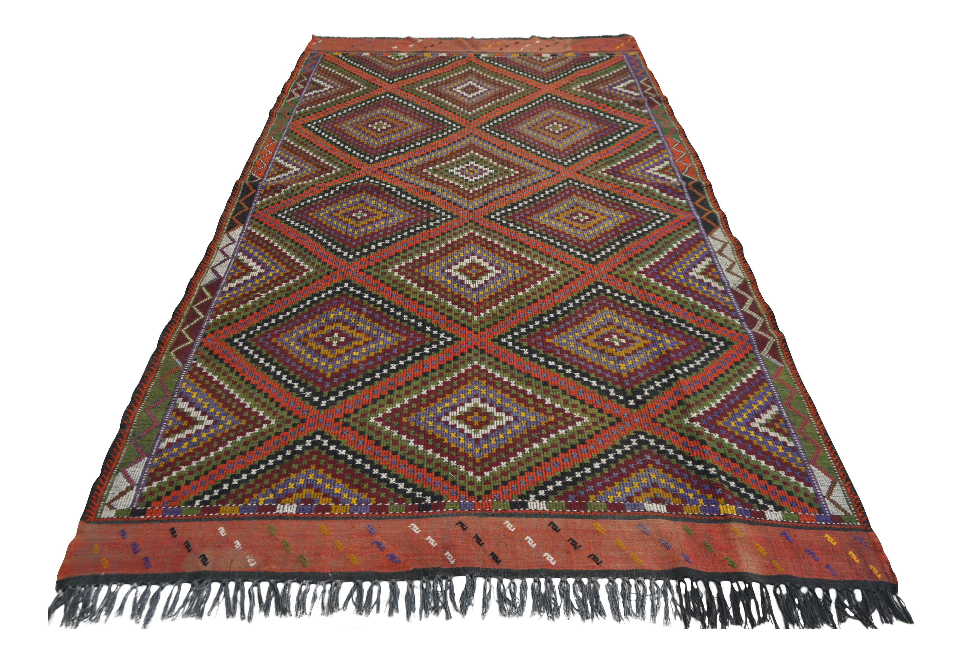 Handwoven Turkish Anatolia Kilim Rug 5 7 X 10 Chairish