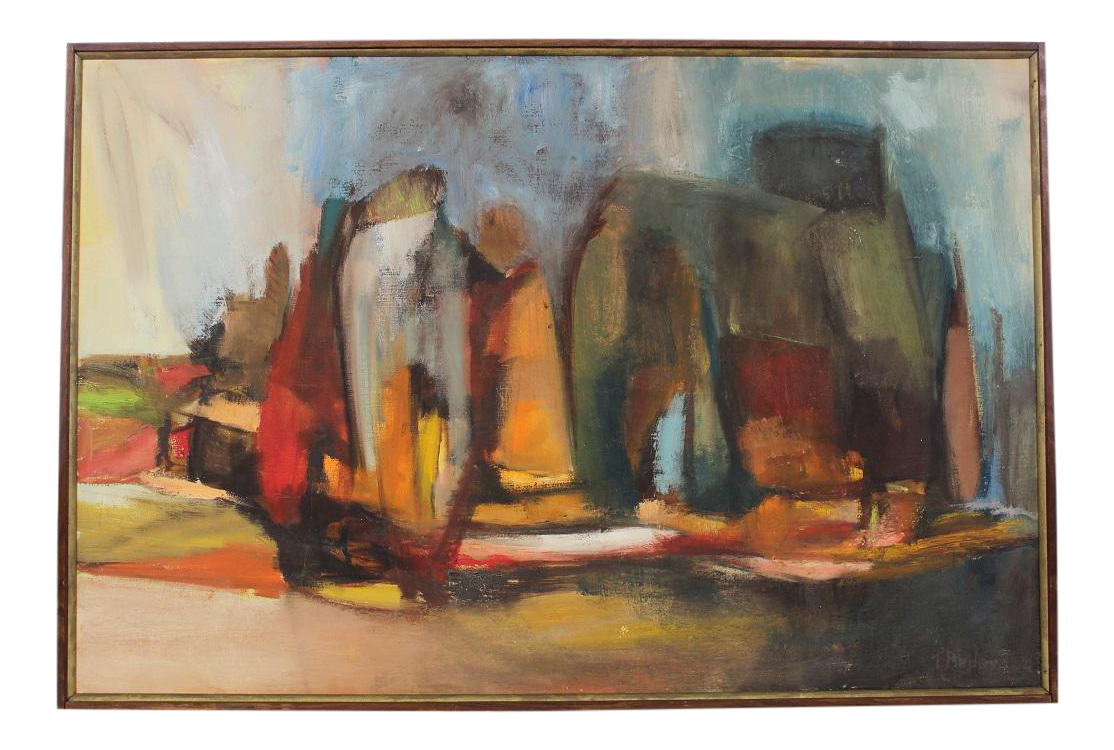 Mid Century Modern Abstract Painting Chairish