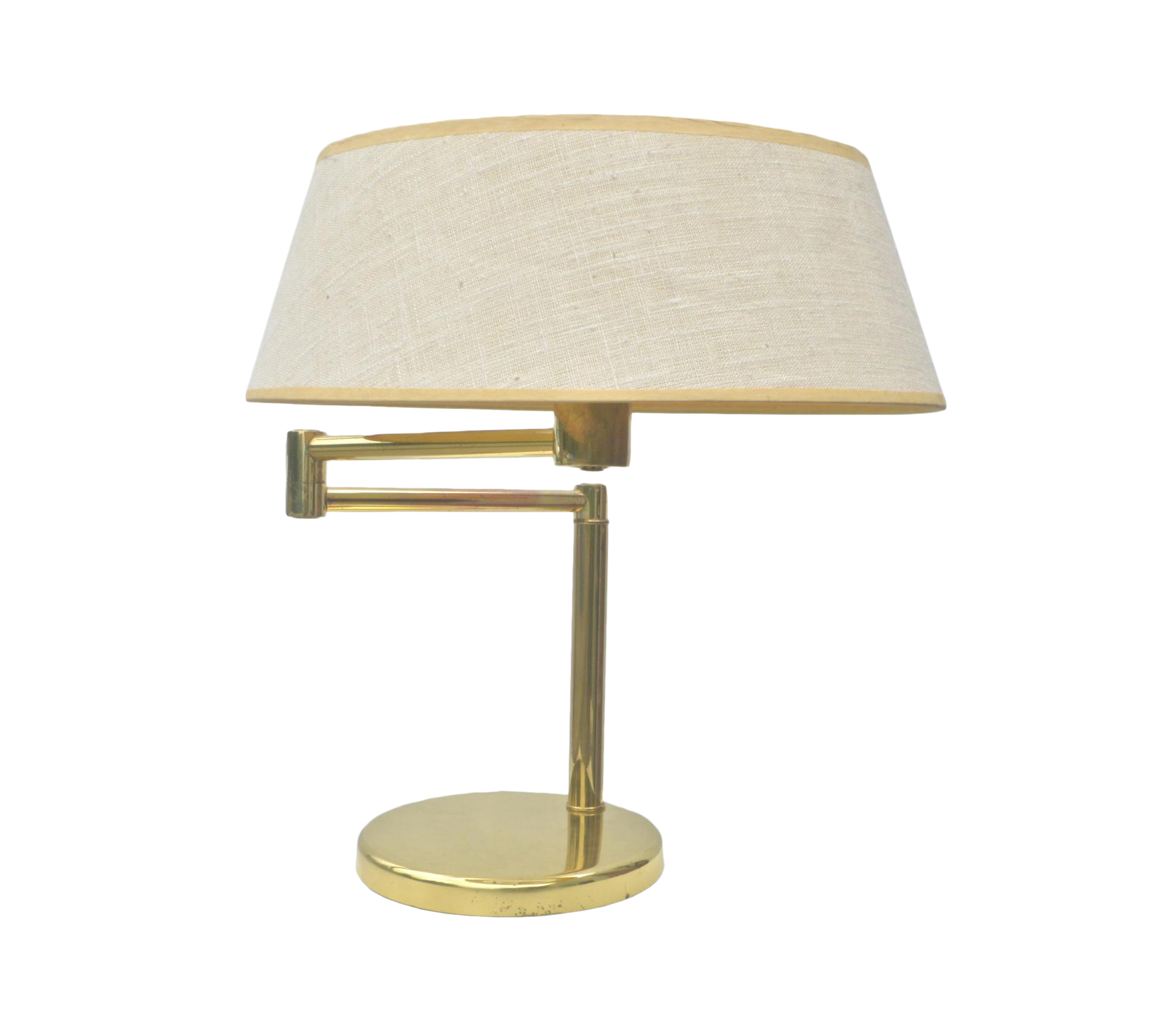 Vintage used art deco table lamps chairish mid century brass desk lamp by walter von nessen geotapseo Image collections