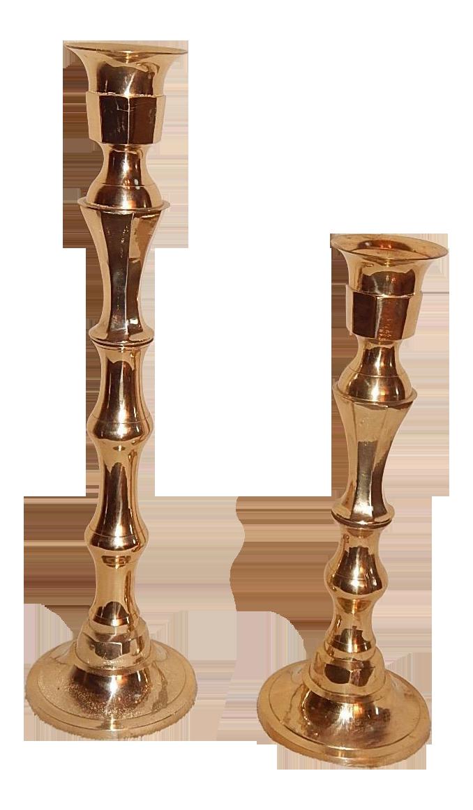 Extra Tall Brass Candlesticks A Pair Chairish