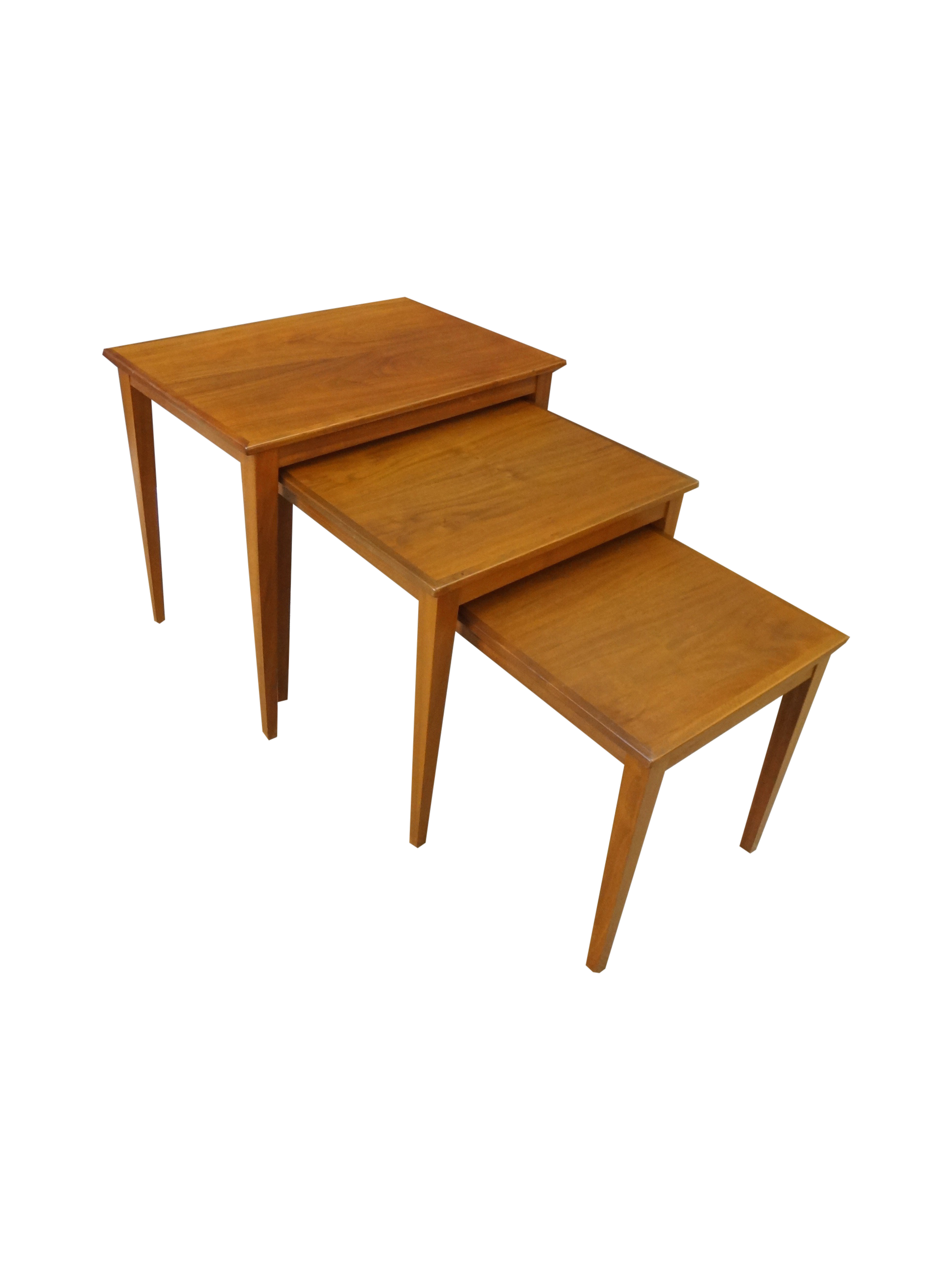 Danish Modern Teak Nesting Tables Chairish. Full resolution  image, nominally Width 1944 Height 2592 pixels, image with #441E08.