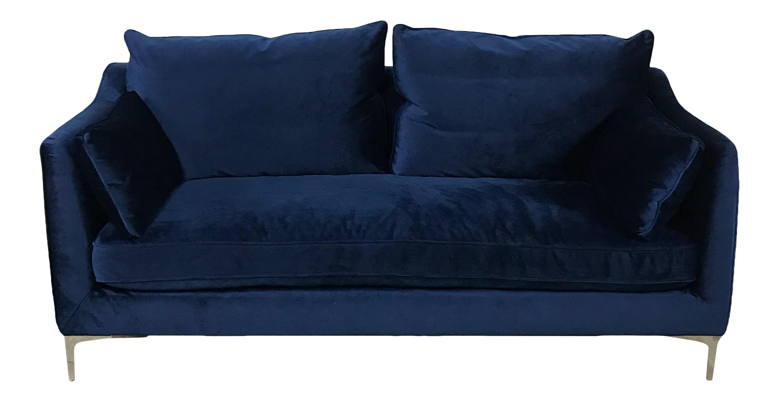 Royal Blue Velvet Sofa Chairish