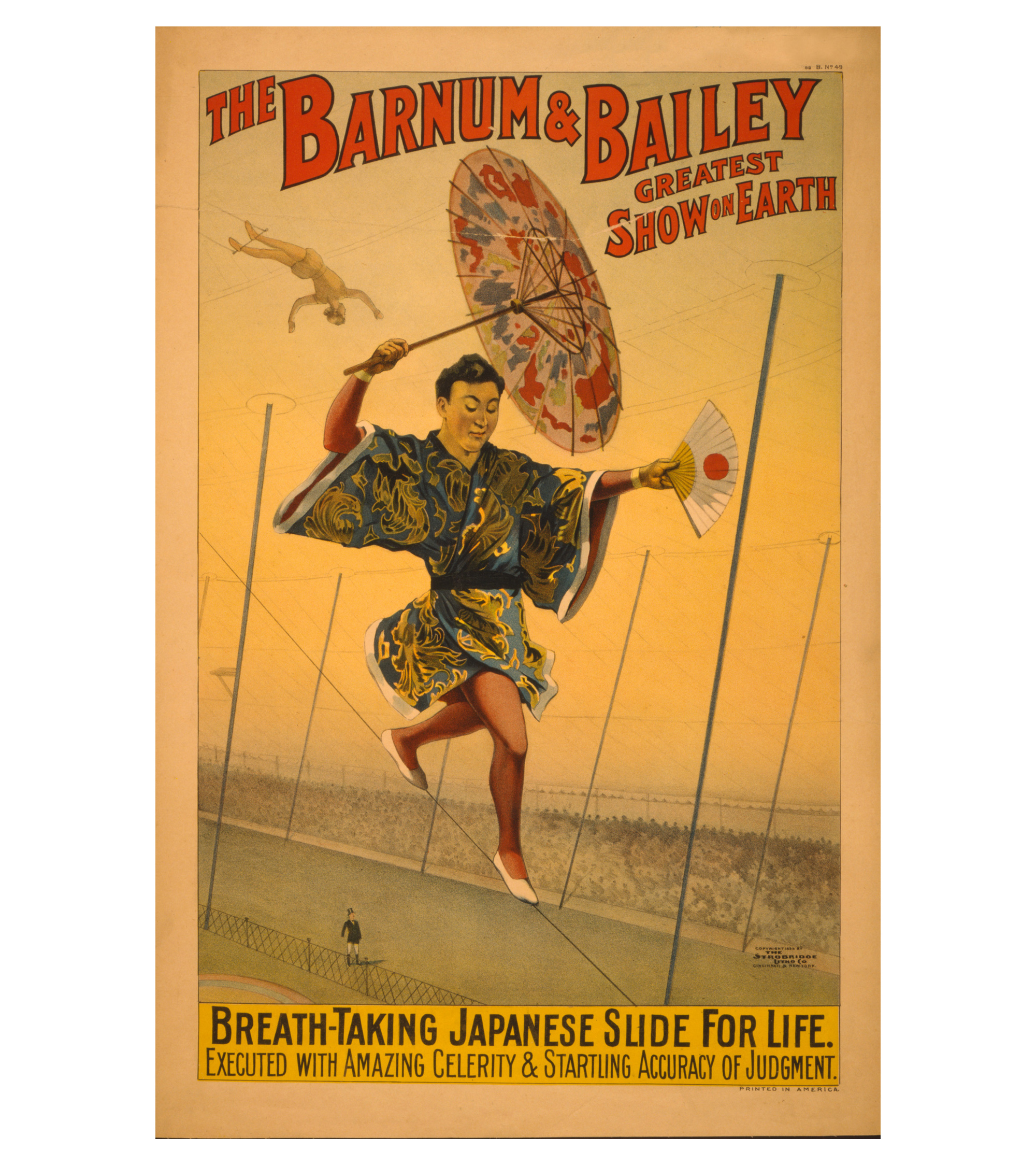The Slide For Life Print Of 1800s Circus Poster Chairish