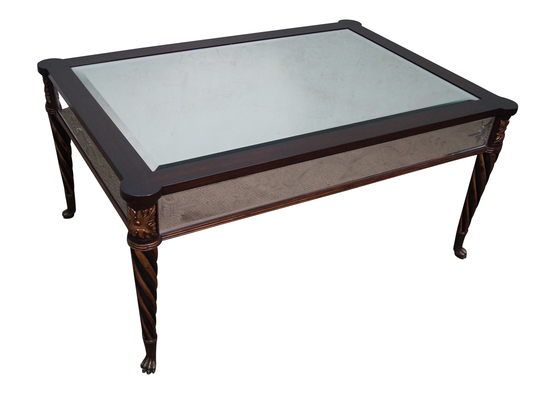 Regency Style Mirror Gilt Claw Foot Coffee Table Chairish