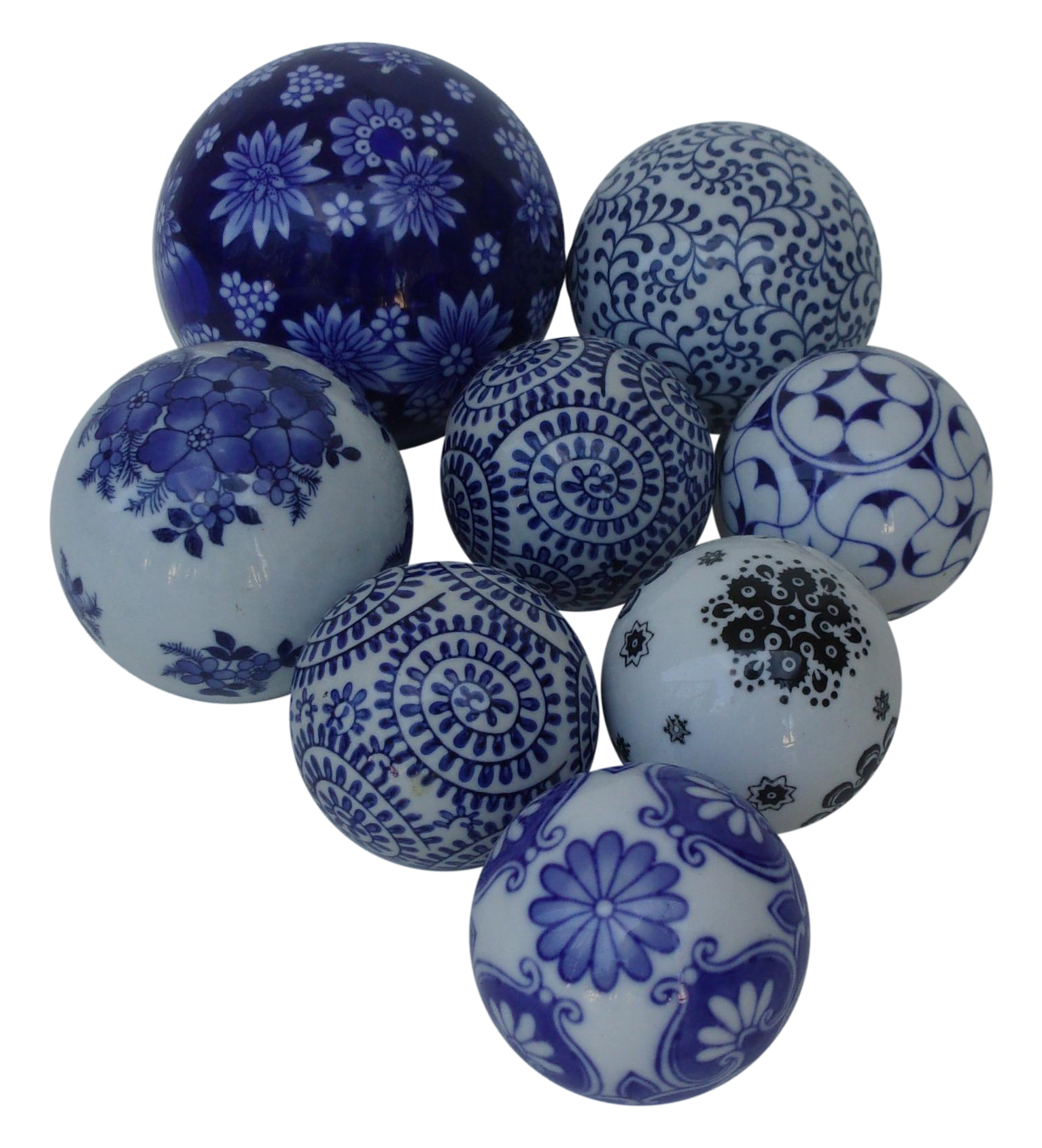 Hand Painted Decorative Ceramic Balls Set Of 8 Chairish