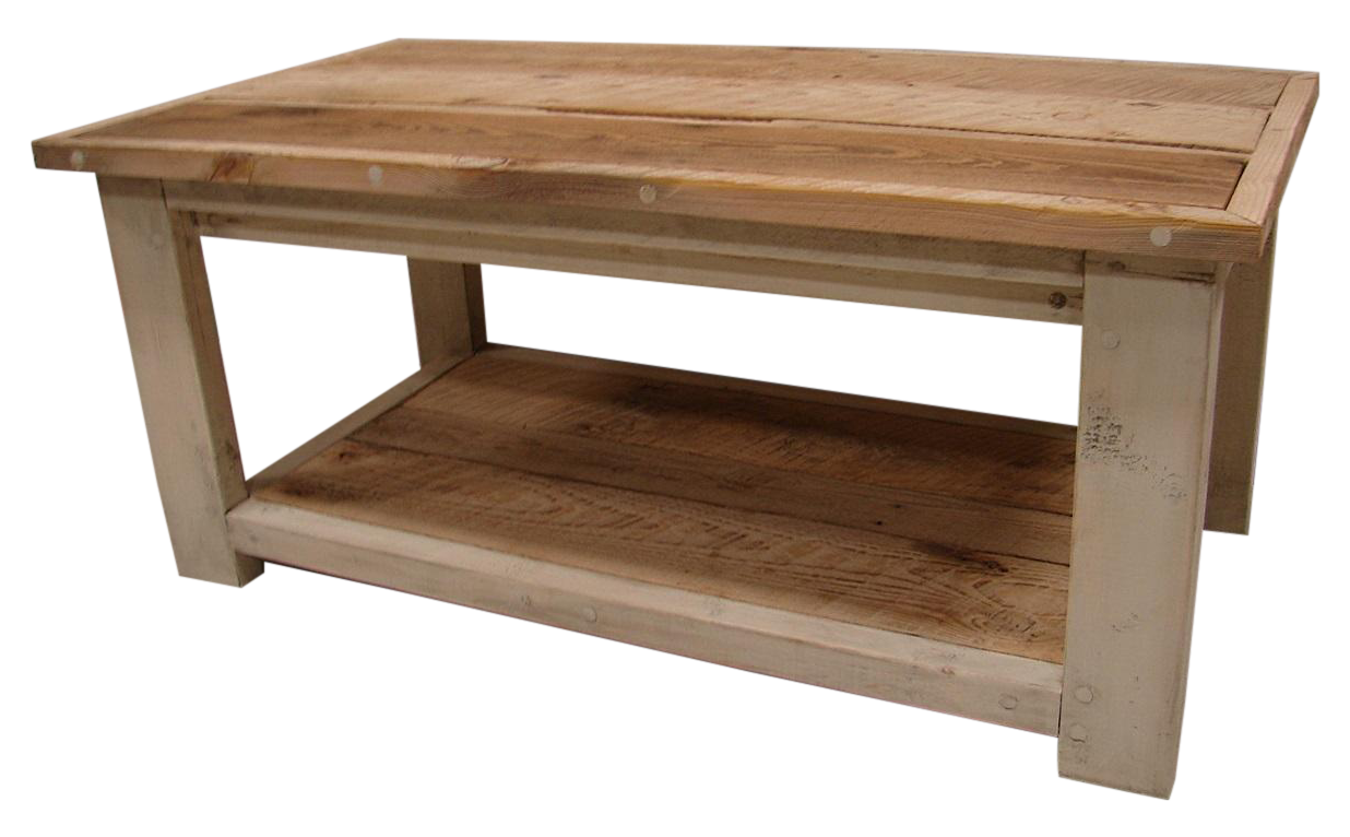 Reclaimed Barn Wood Linen Painted Coffee Table Chairish