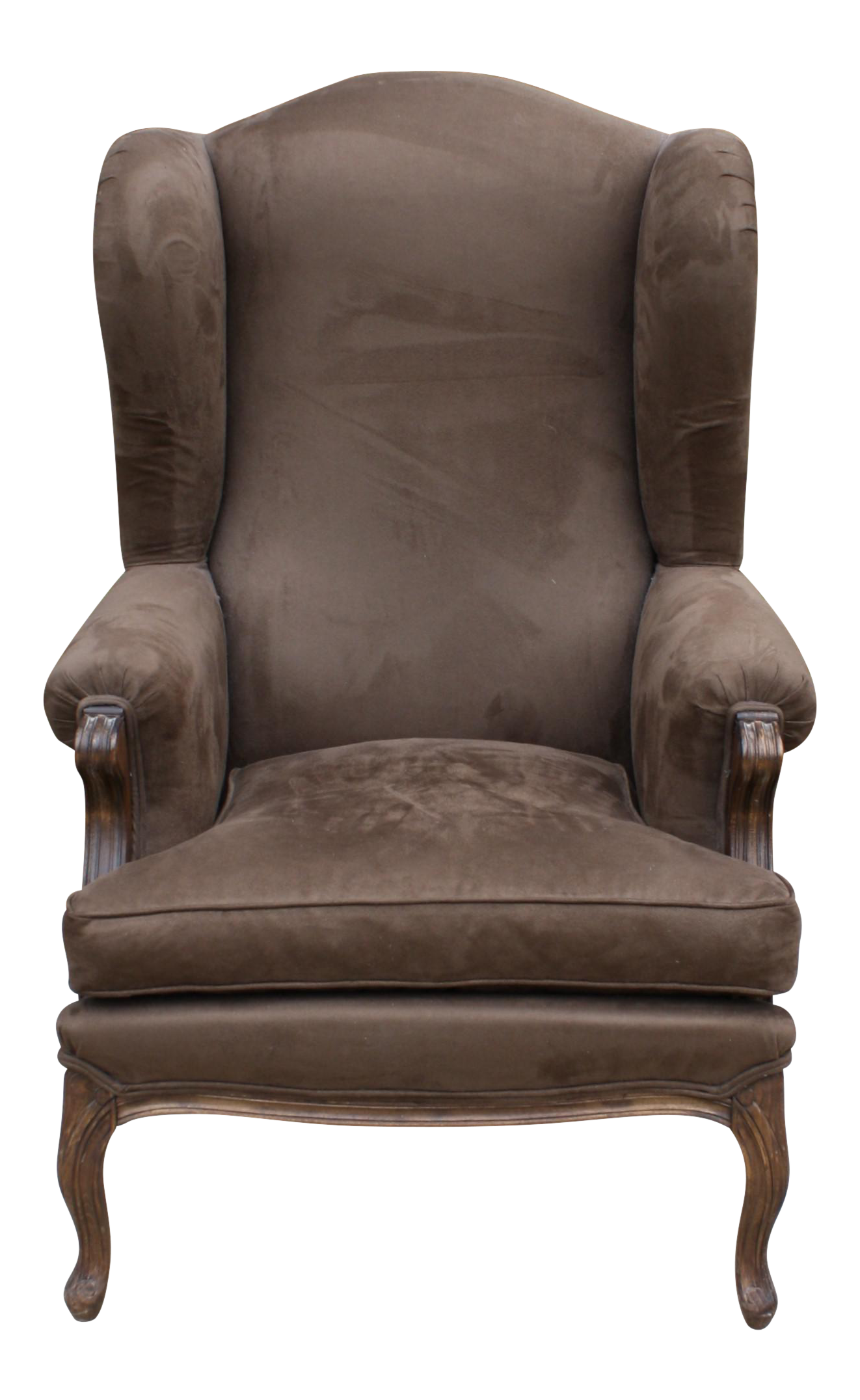 French Style Wingback Chair Chairish