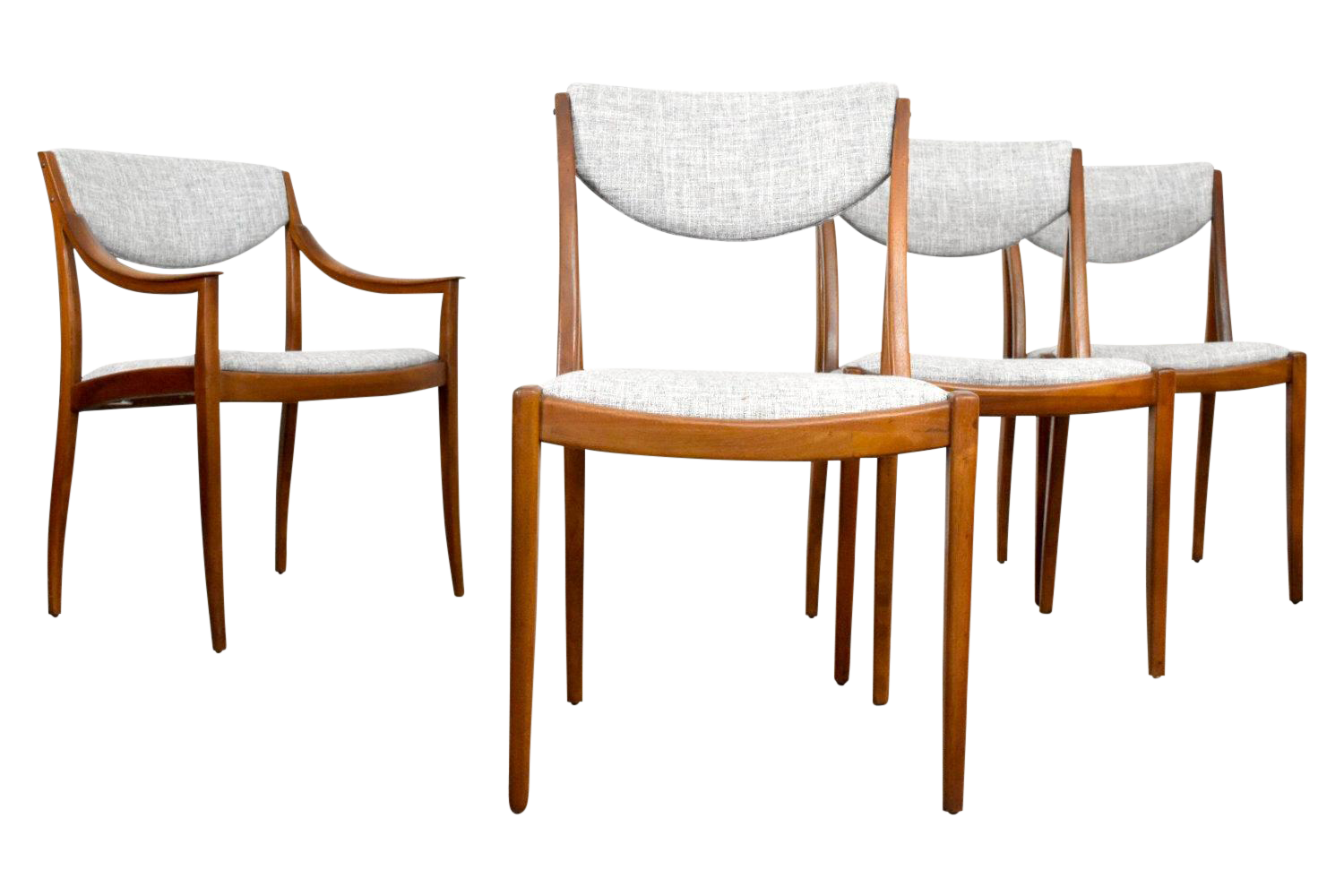 mid century modern drexel dining chairs set of 4 chairish