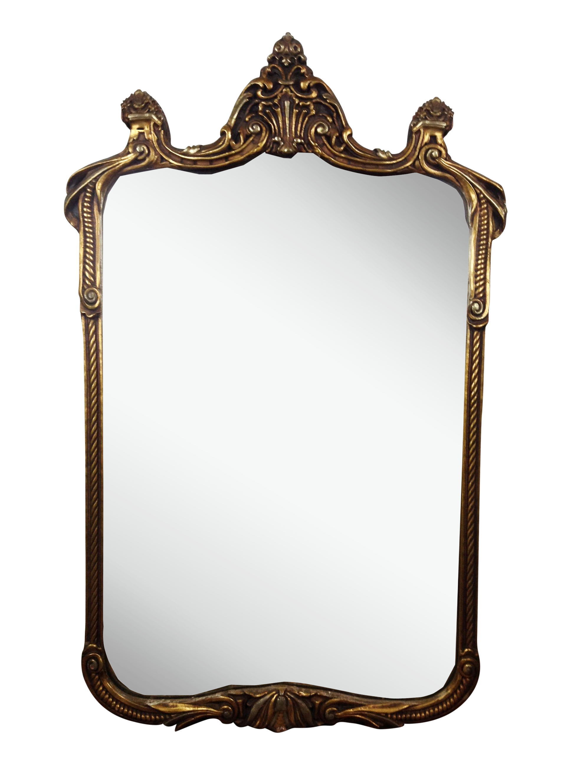 Gilded art nouveau wall mirror chairish for Art mirrors for walls