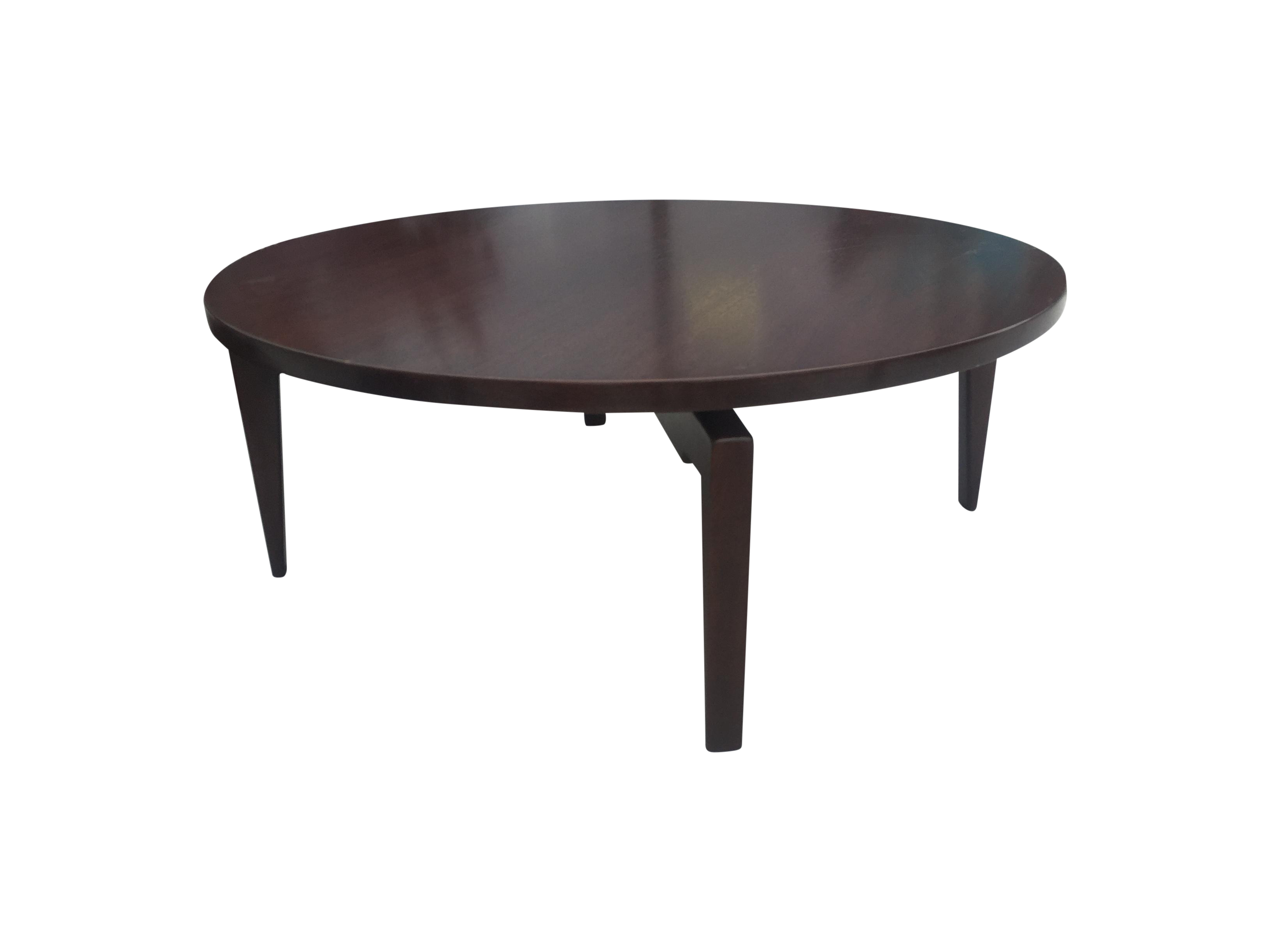 Jens Risom Round Coffee Table With Lazy Susan