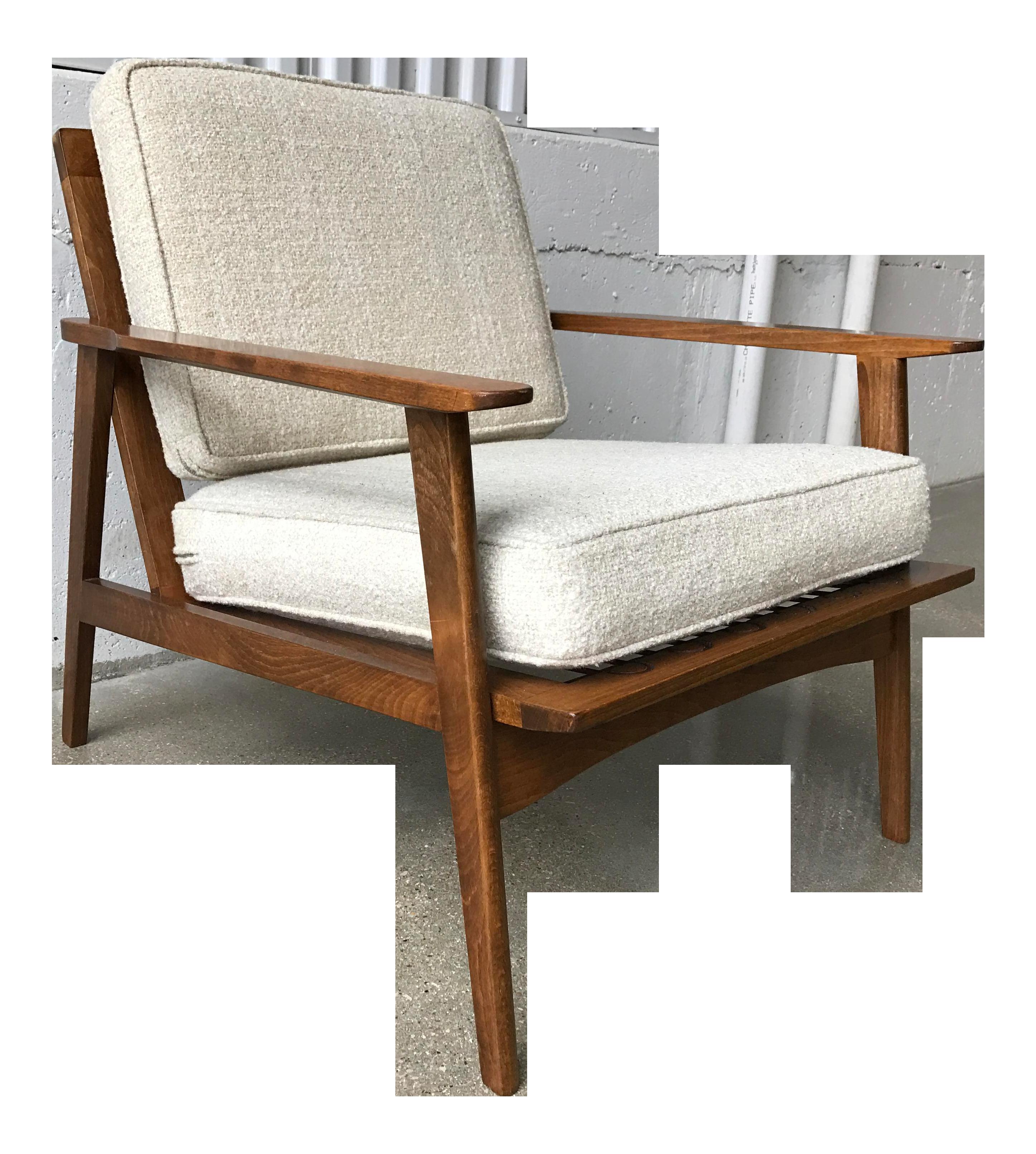 folke ohlsson for dux danish modern walnut spindle back lounge