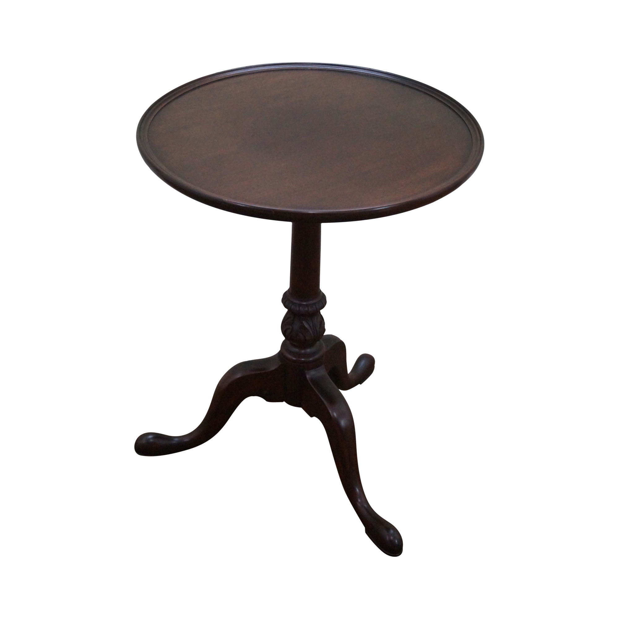 A Cooper Solid Mahogany Pedestal Side Table Chairish