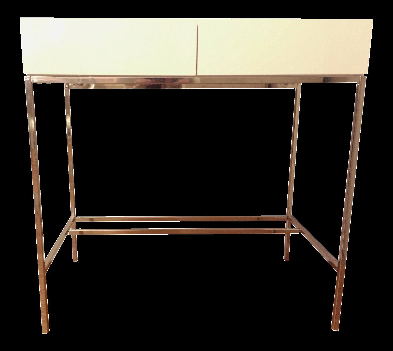 West Elm Lacquer Storage Mini Desk Chairish