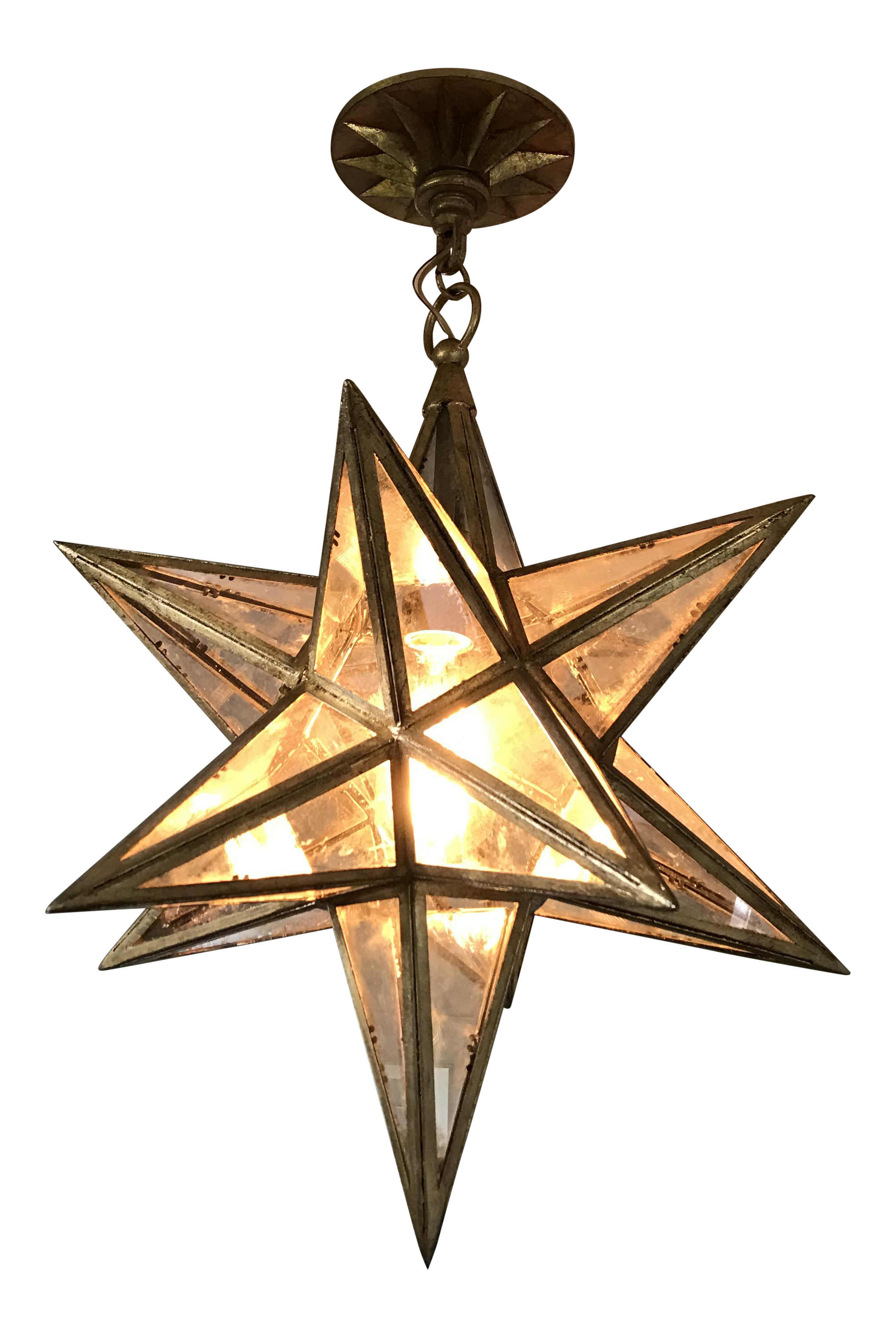 Visual comfort moravian star light fixture chairish