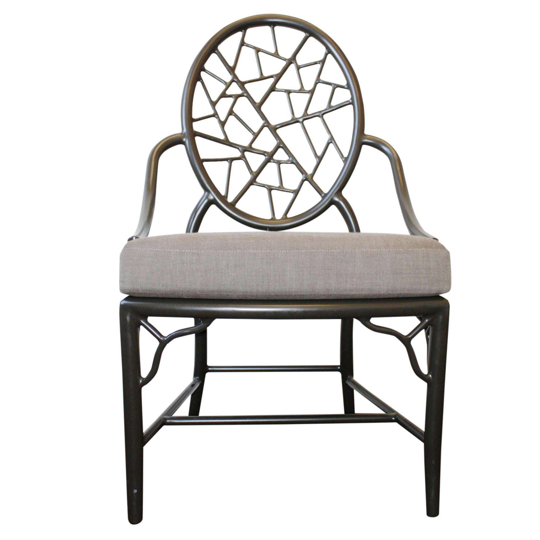 Mcguire Cracked Ice Garden Arm Chair Chairish